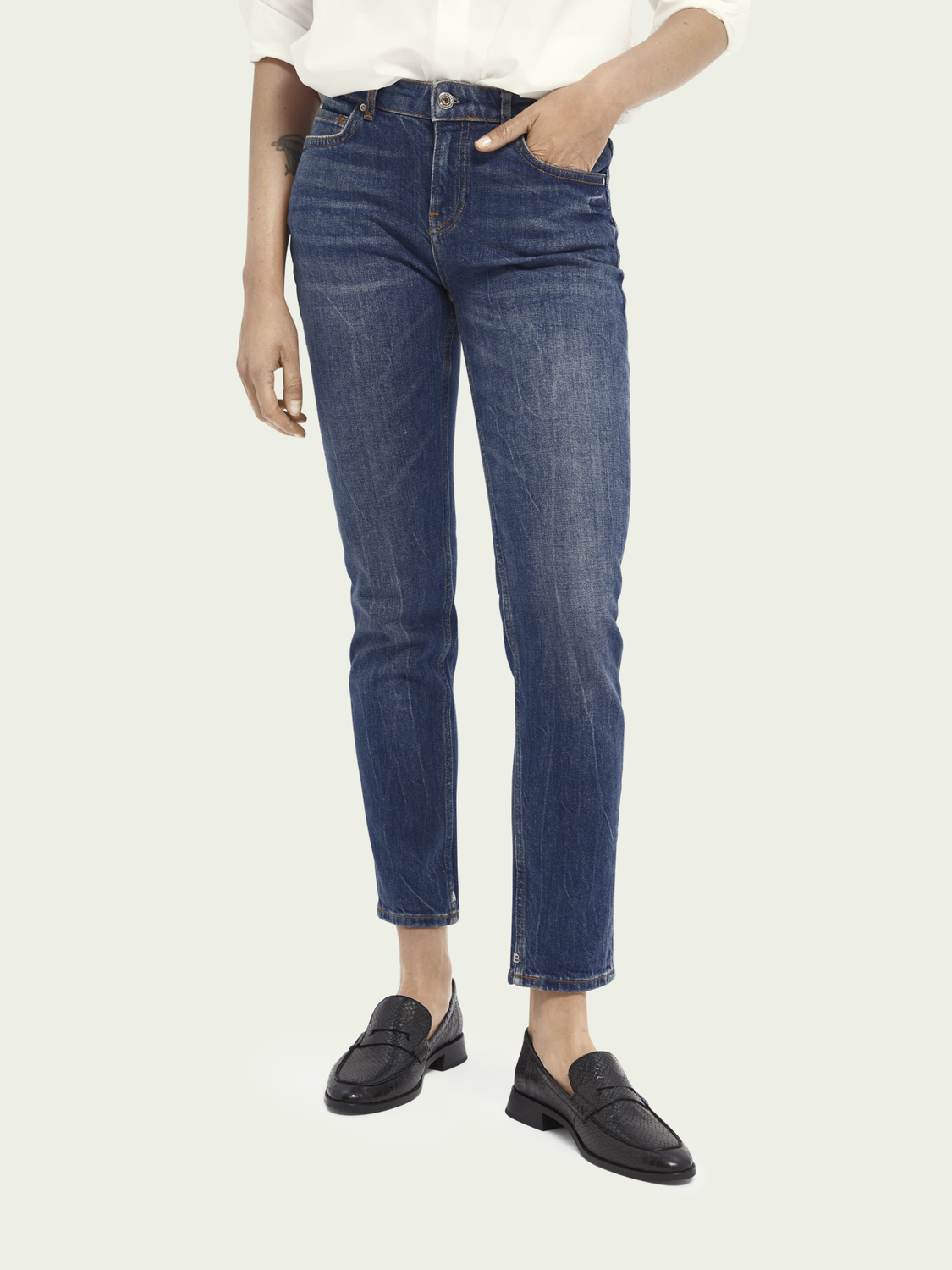 Donna The Keeper - Deep Blue | Mid rise slim fit