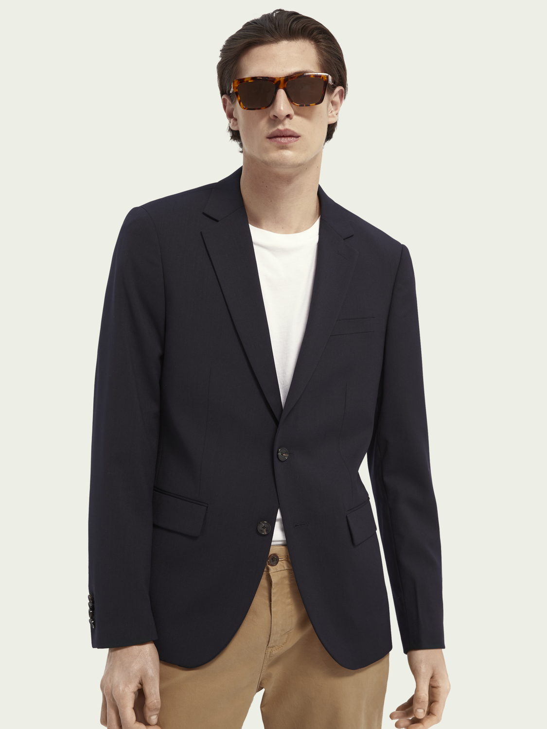 Men Classic Wool Blend Blazer
