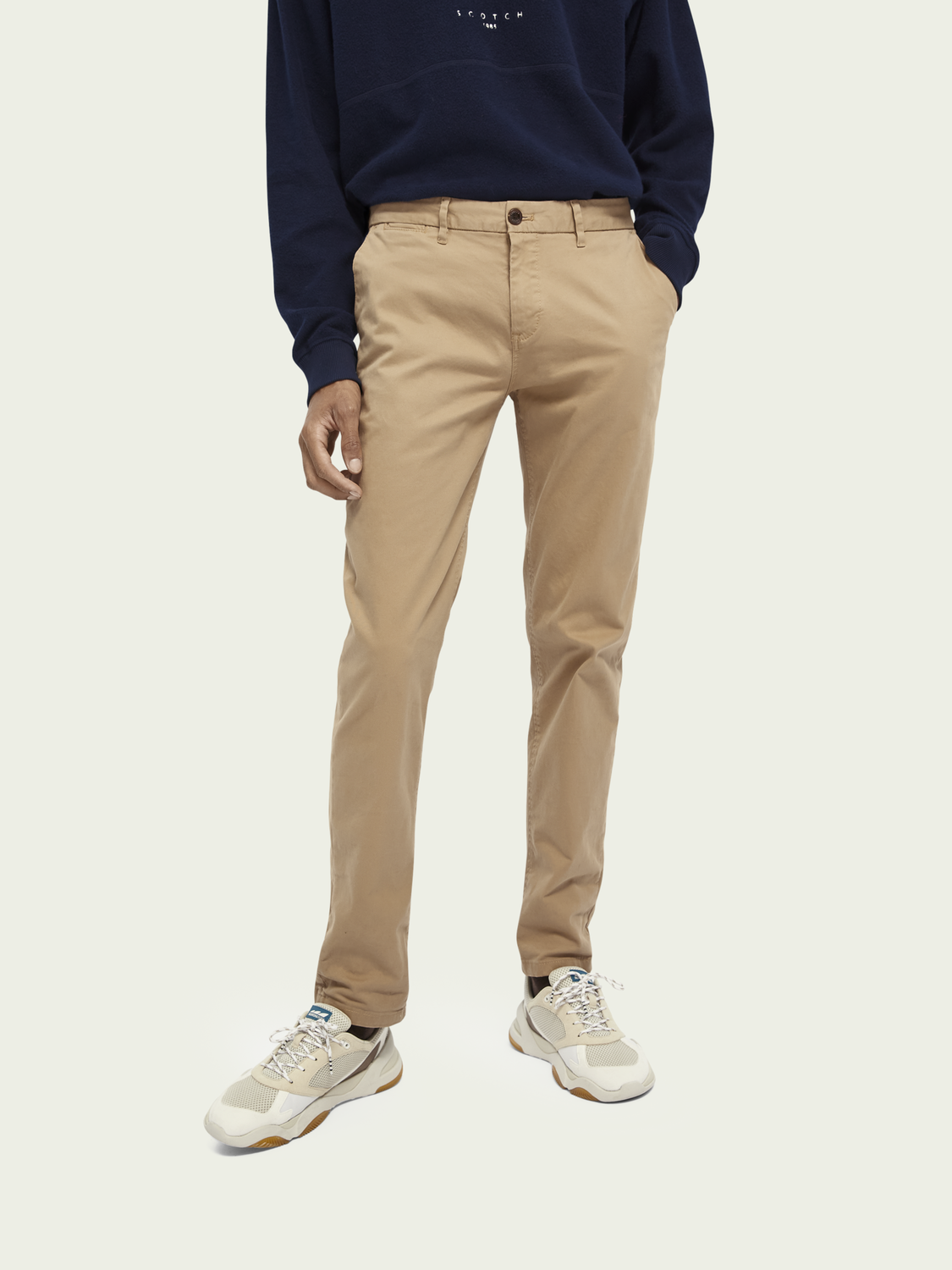 Men Stuart - Stretch Cotton Chinos | Regular slim fit