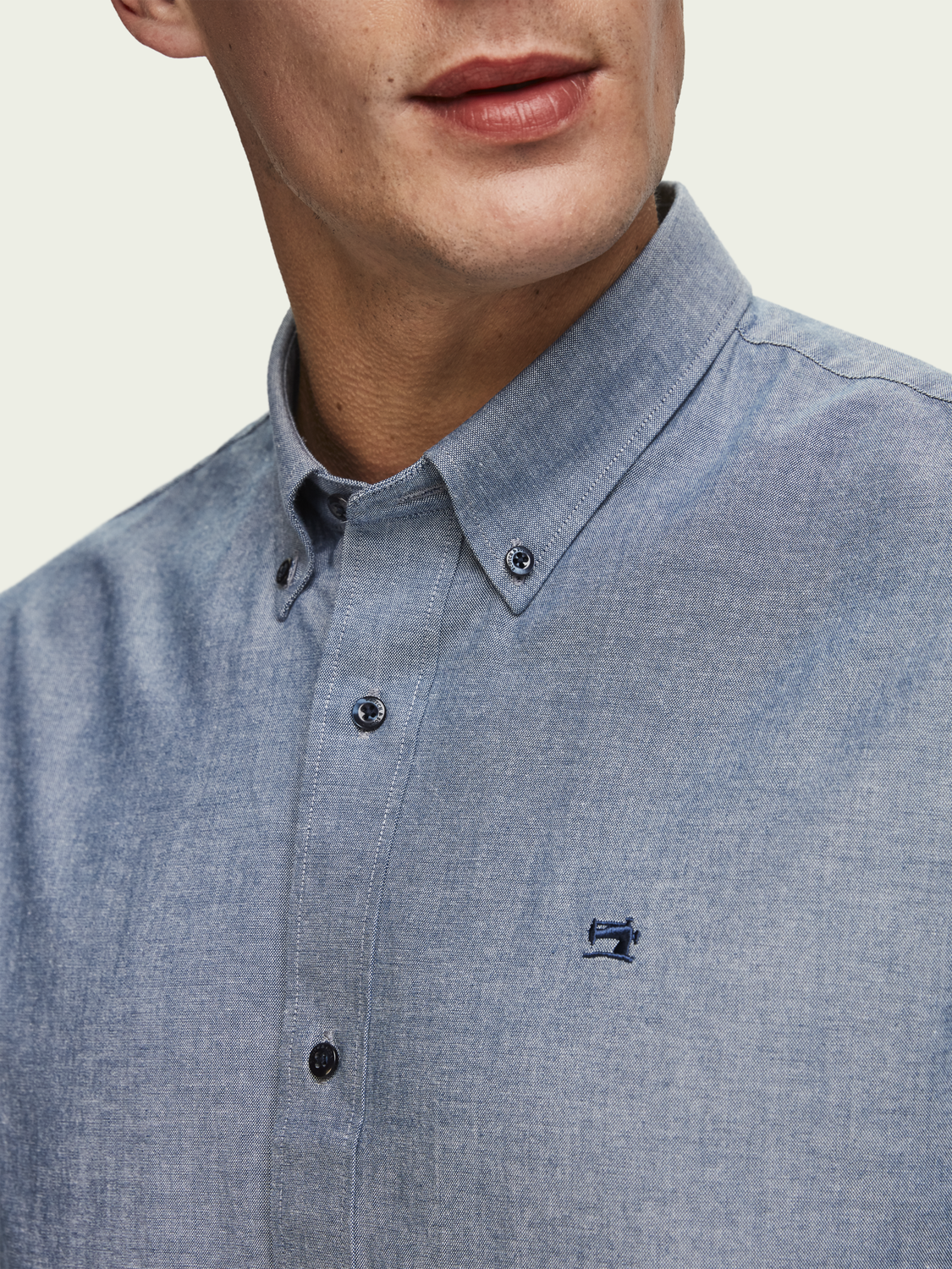 Men Chambray Shirt | Relaxed fit