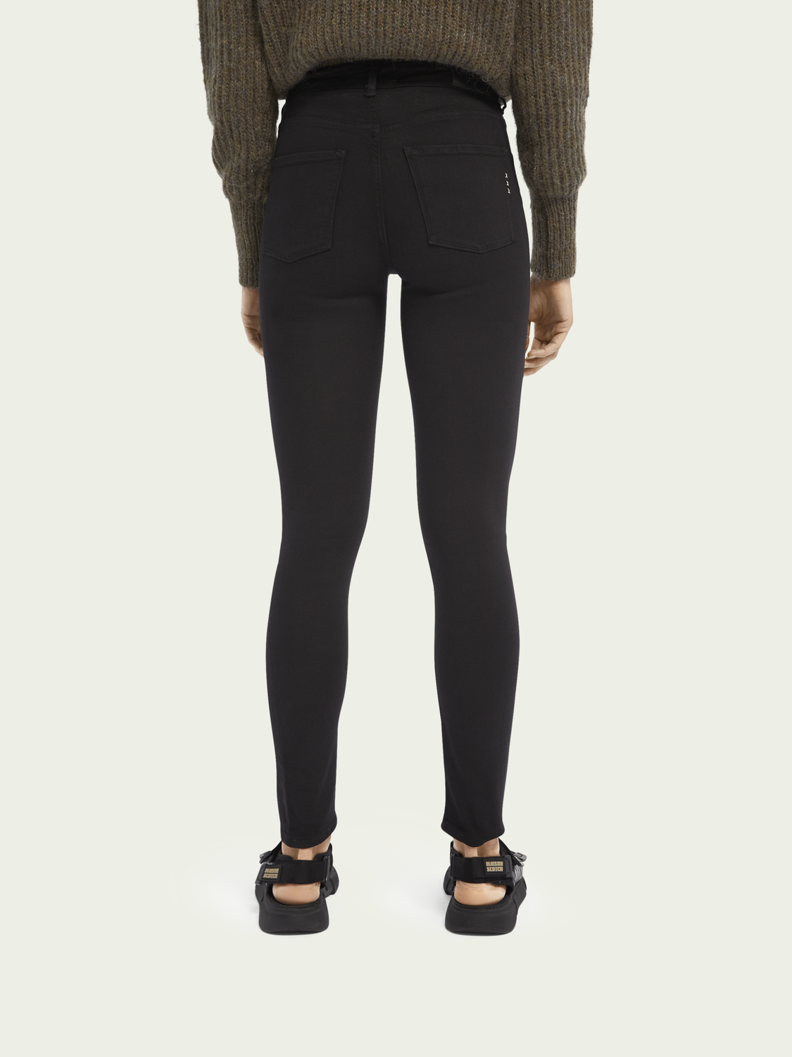 Dames Haut - Stay Black | High-rise skinny fit