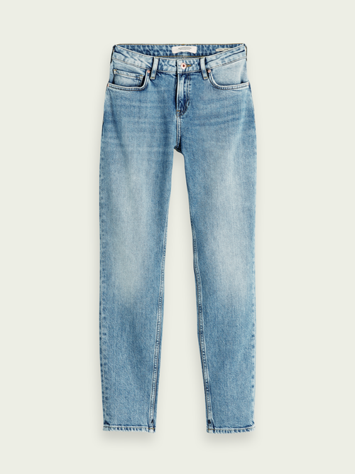 The Keeper - Turquoise | Mid rise slim fit