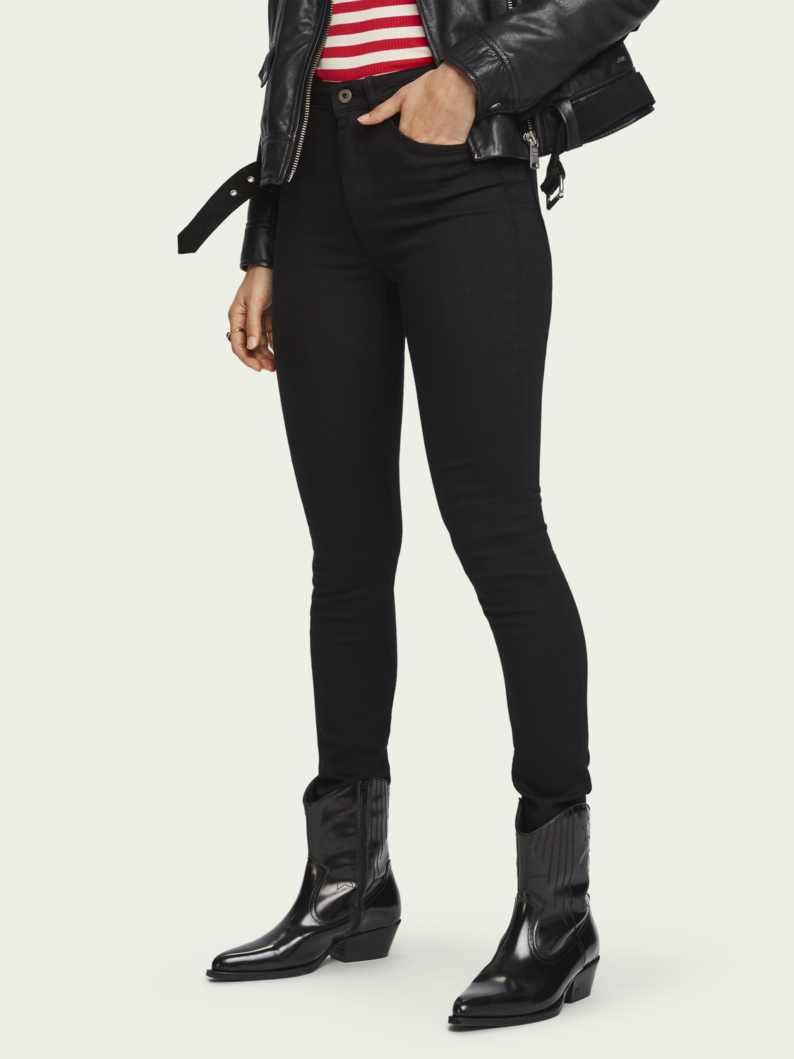 Women Haut - Stay Black | High rise skinny fit