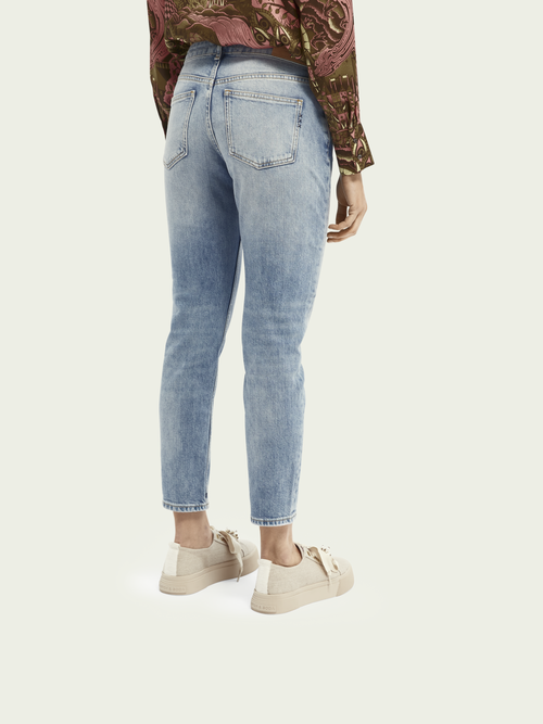 Scotch & Soda The Keeper - Turquoise | Mid rise slim fit