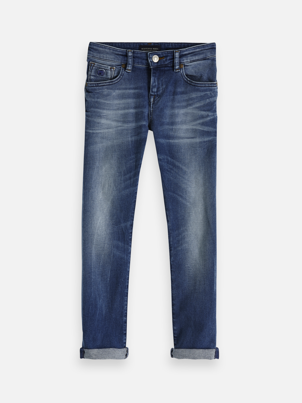 Artikel klicken und genauer betrachten! - The Strummer is our skinny fit denim.  These mid-blue jeans are made from comfort stretch denim and feature bleach and spray effects for a faded look. | im Online Shop kaufen