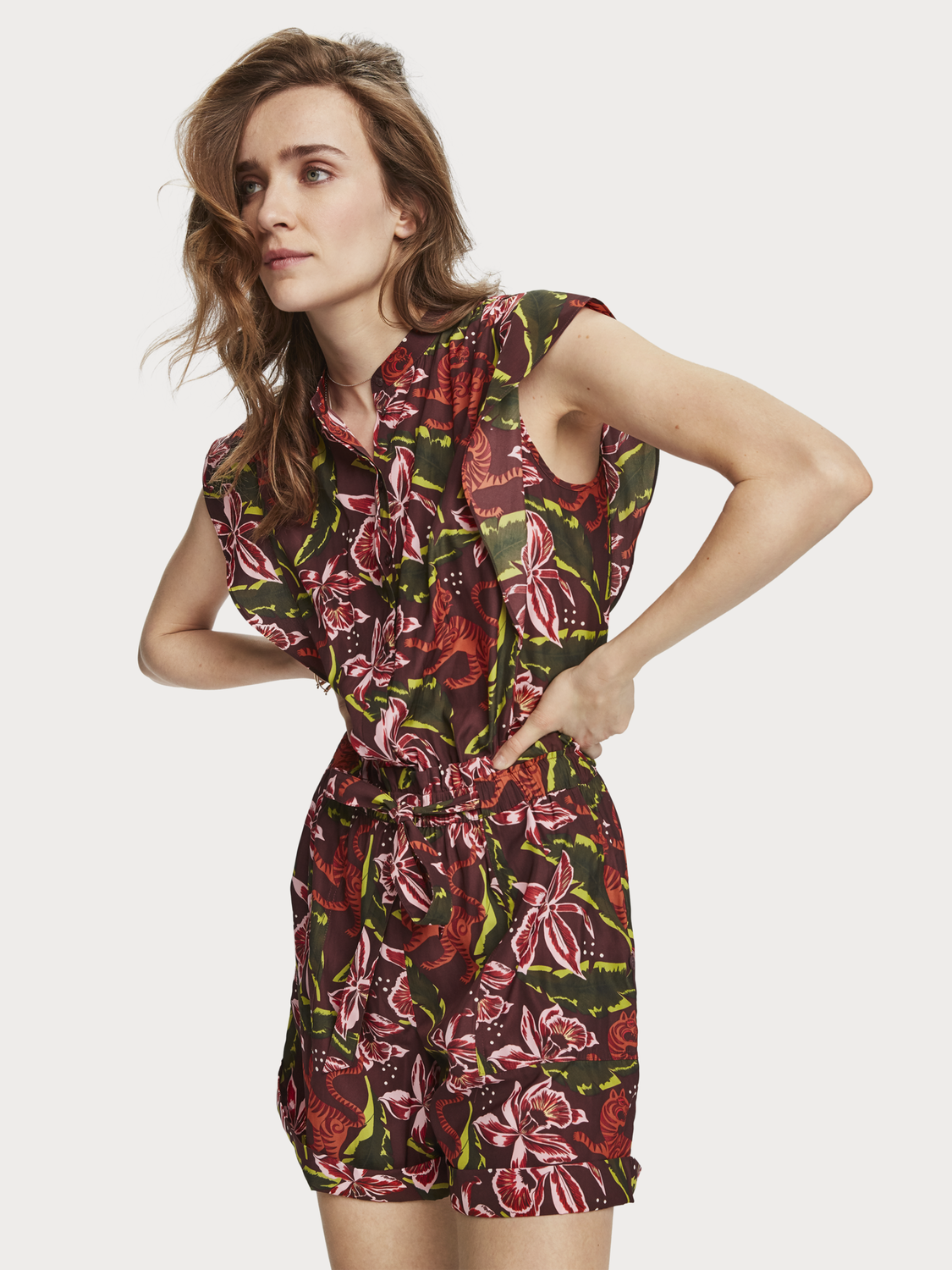 Women Floral Print Playsuit