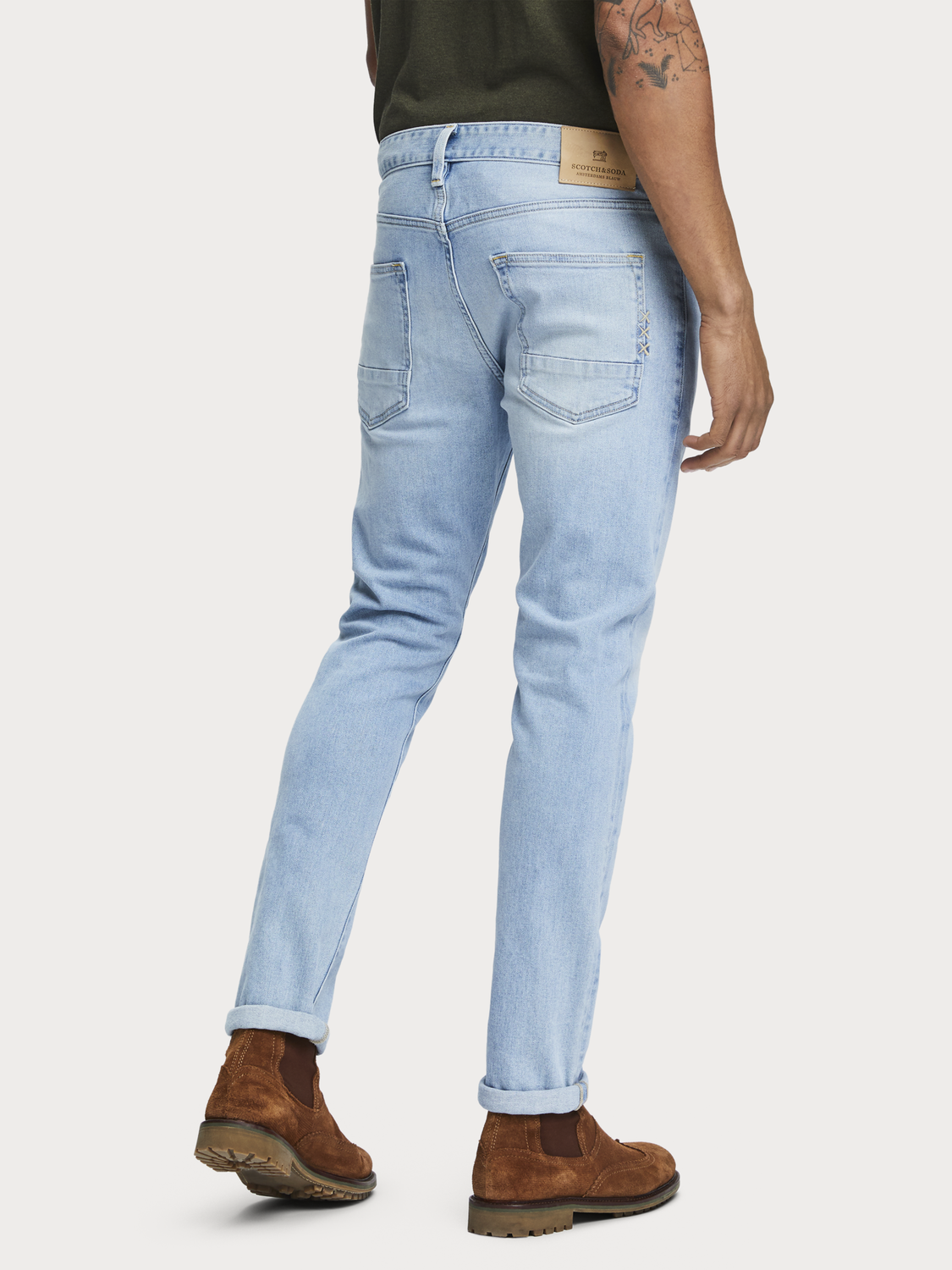 Men Ralston - Paint it Blauw | Regular slim fit