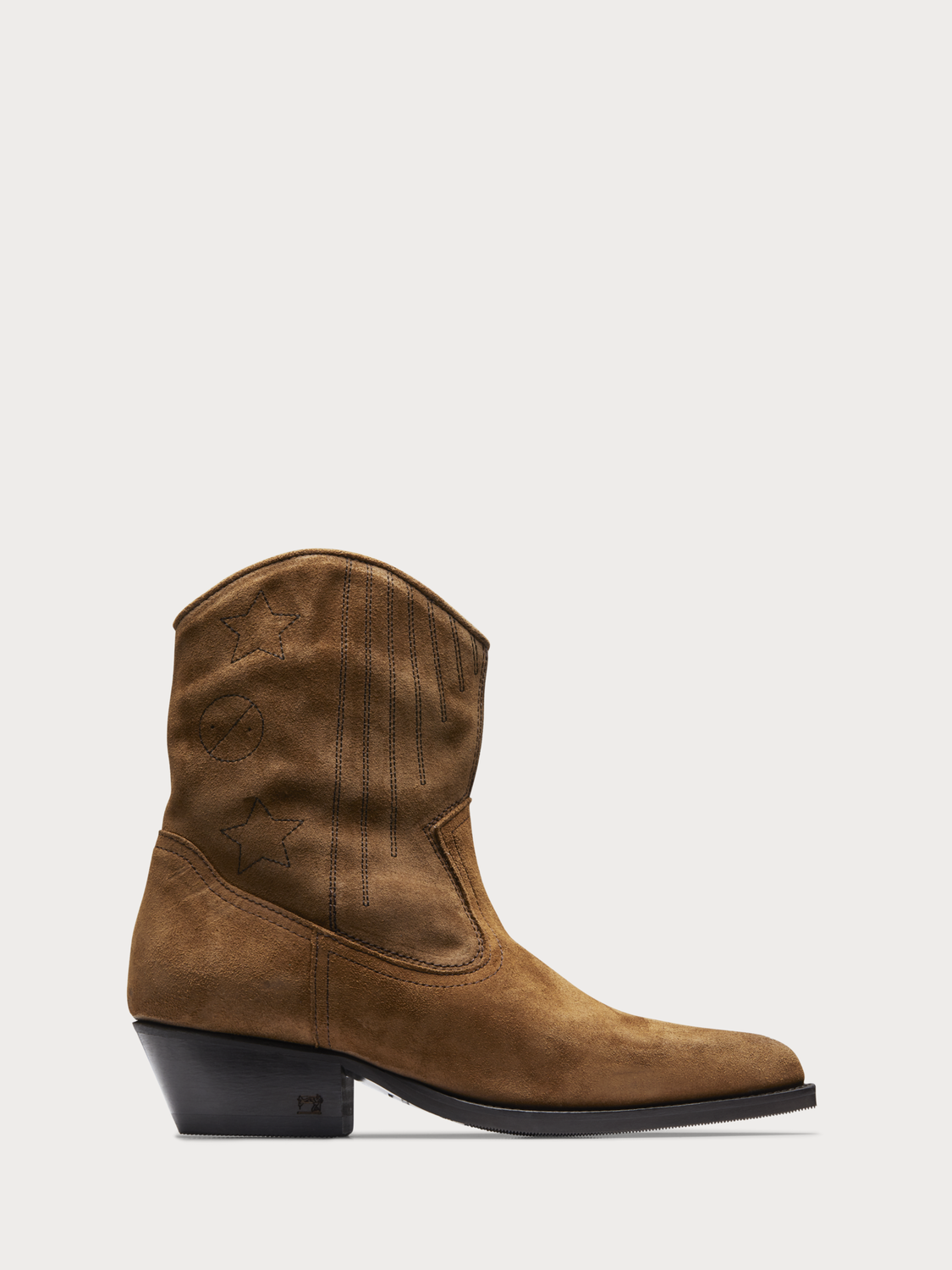 Women Corall - Suede Cowboy Boots