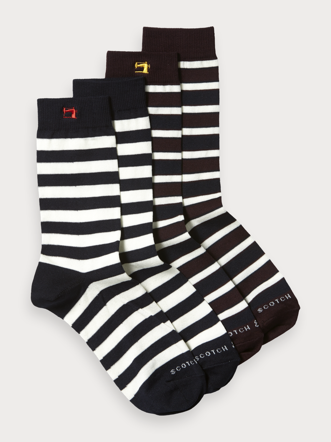 Men 2-Pack Striped Socks