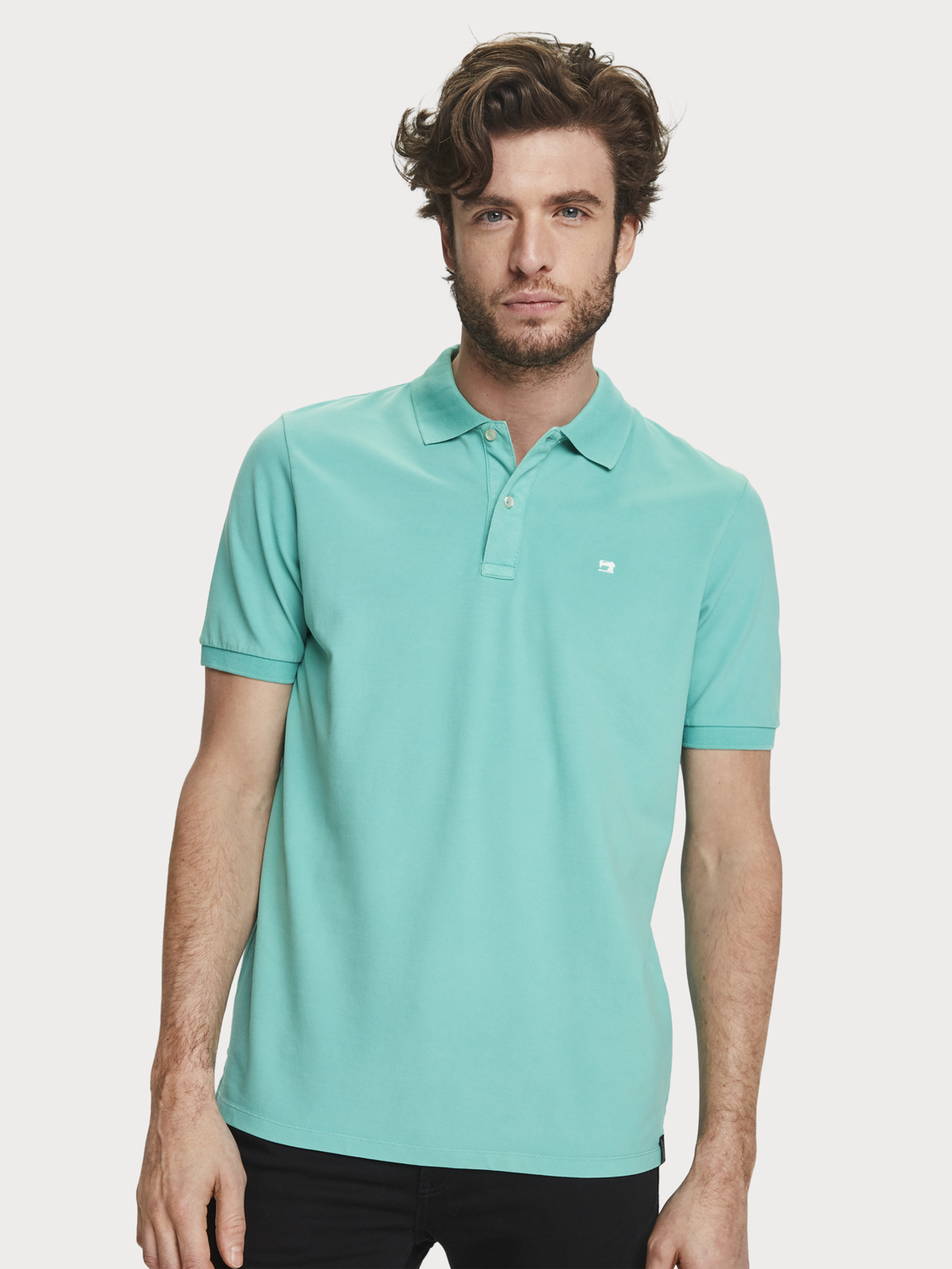 Heren Garment-dyed polo