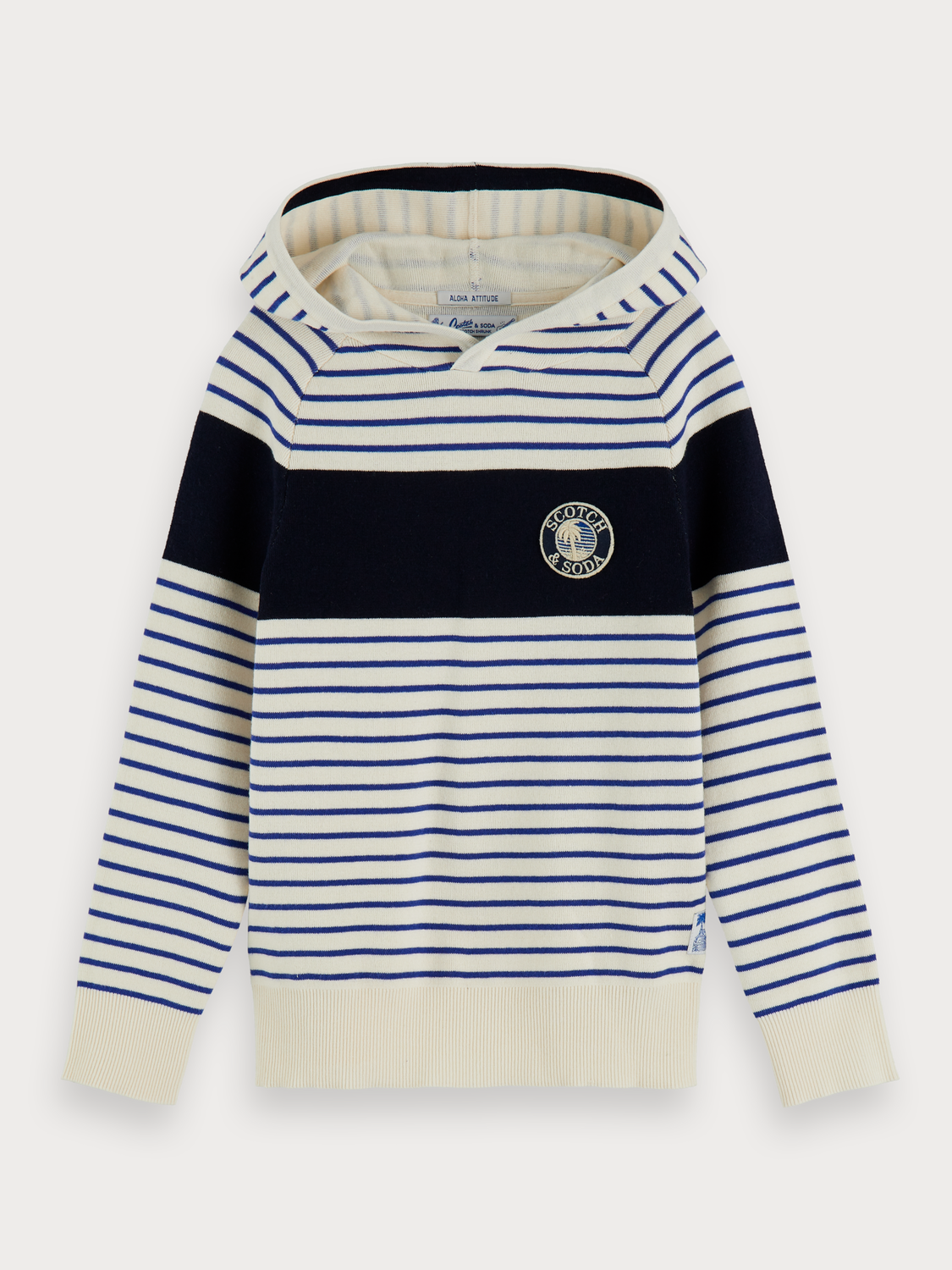 Boys Striped knitted hoodie