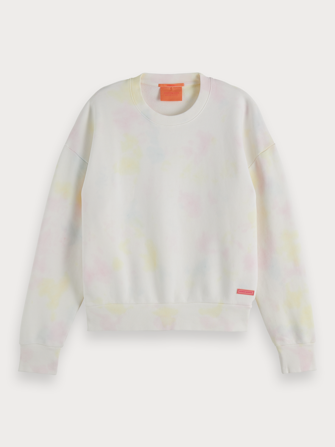 Women Tie-Dye Crew Neck Sweater