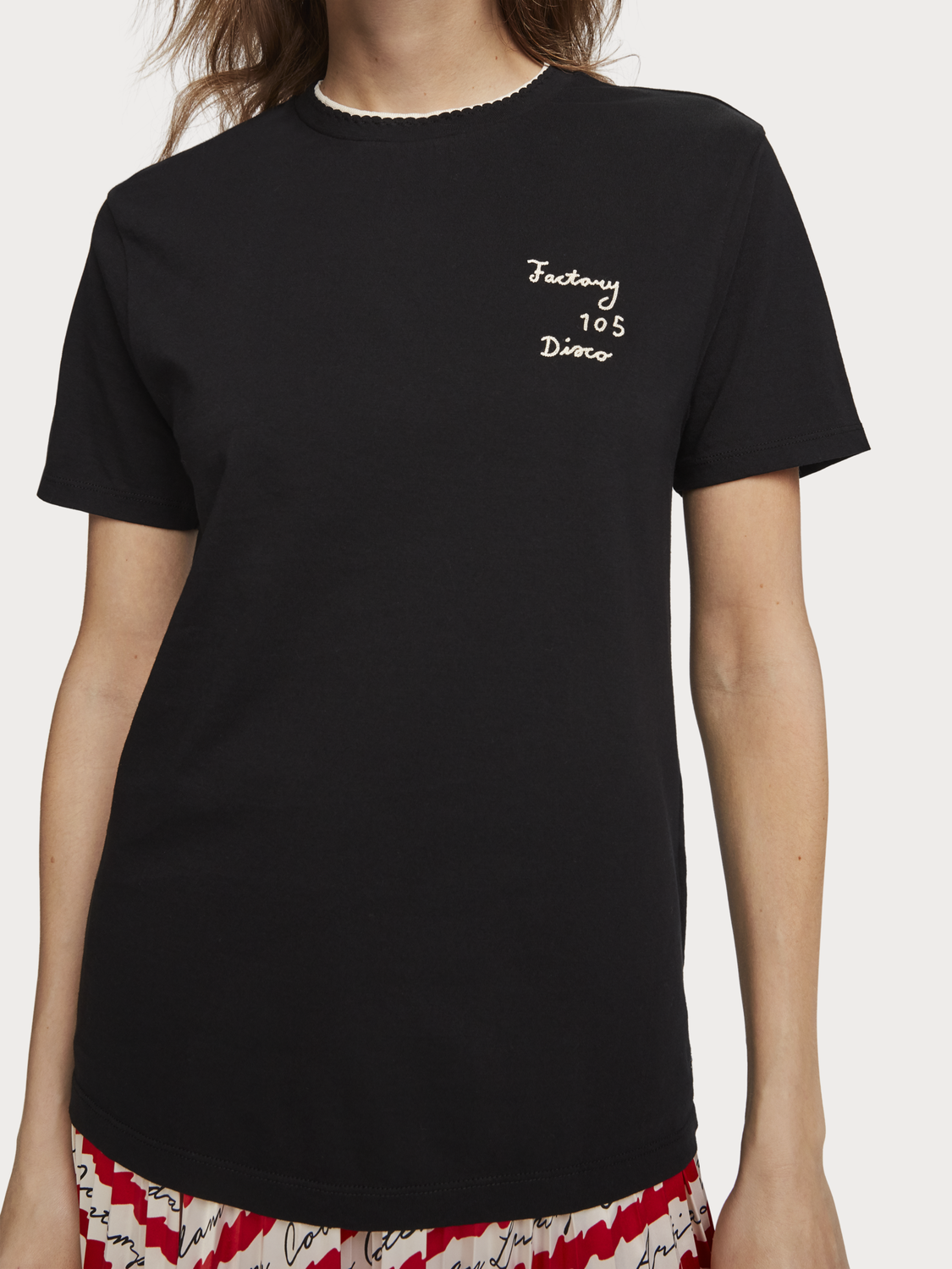 Women Embroidered Detail T-Shirt