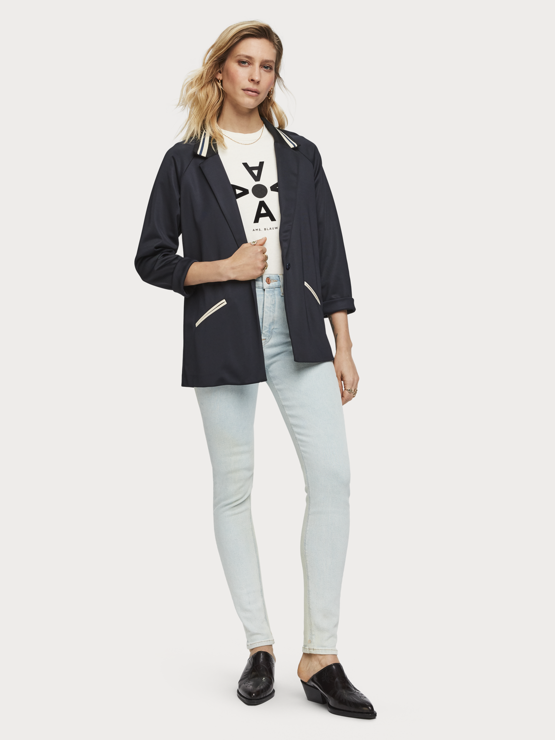 Women Sporty Nylon Blazer