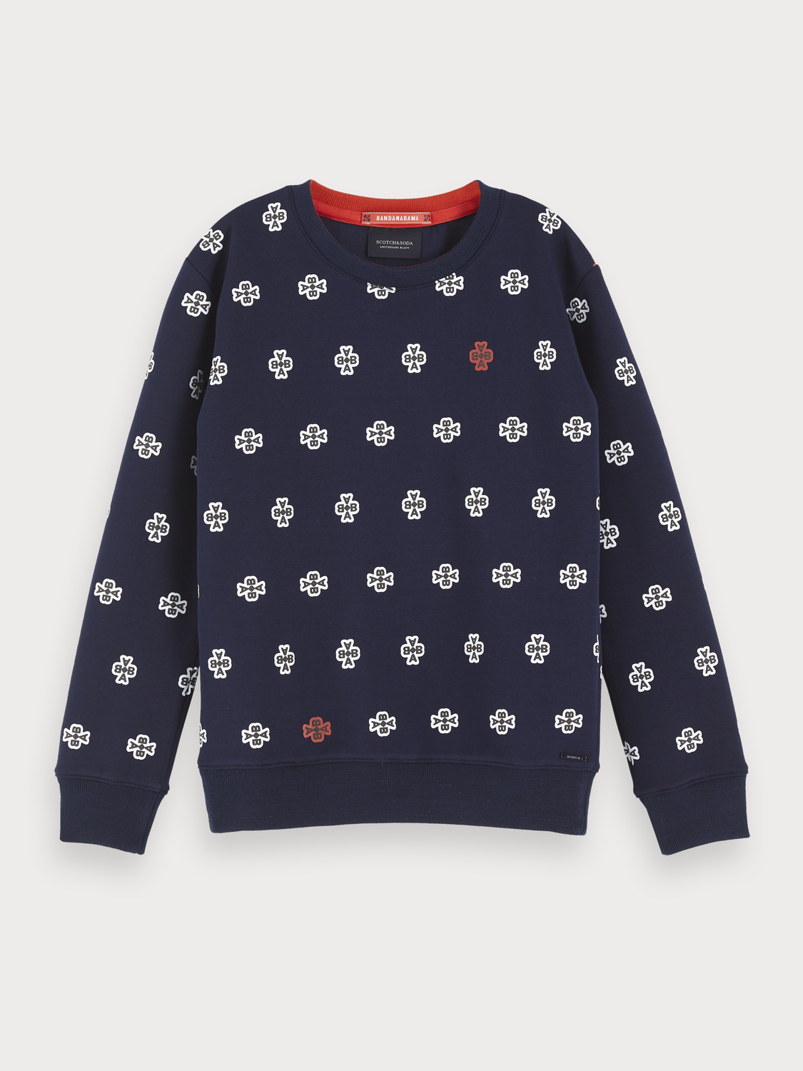 Girls All-Over Printed Sweater