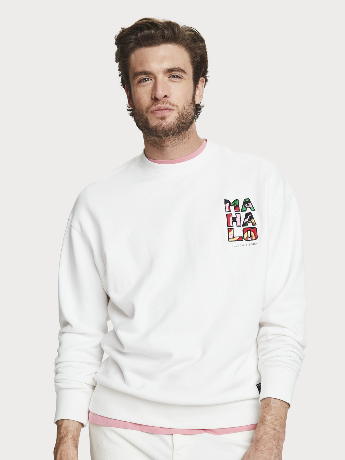 Men Embroidered Detail Sweater
