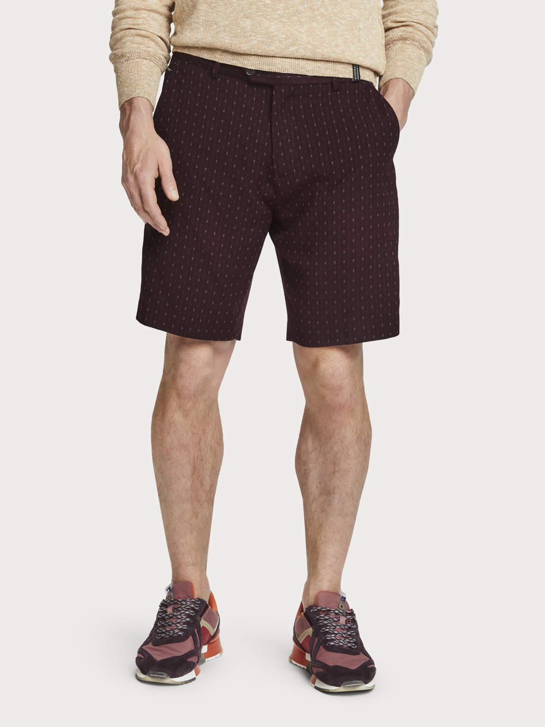 Men Patterned Dress Shorts