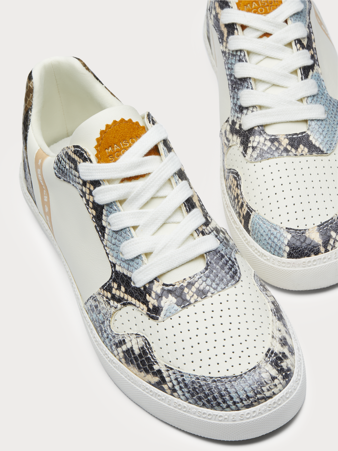 Women Laurite - Faux Snakeskin Sneakers