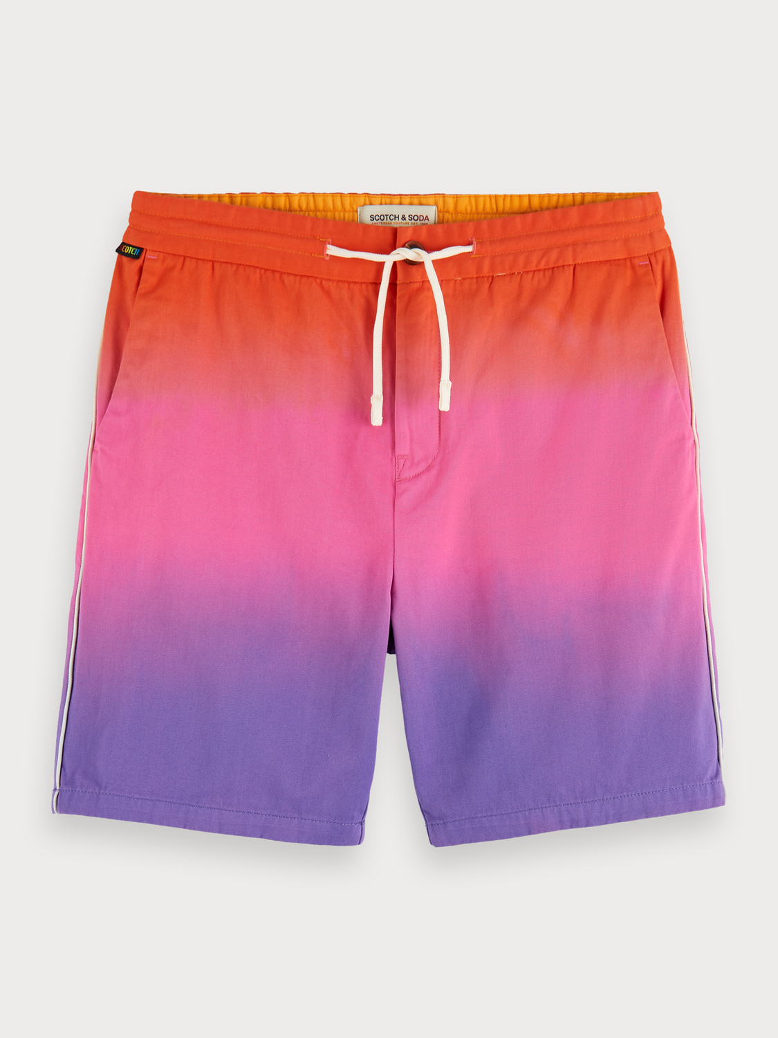 Men Degradé Cotton Twill Shorts