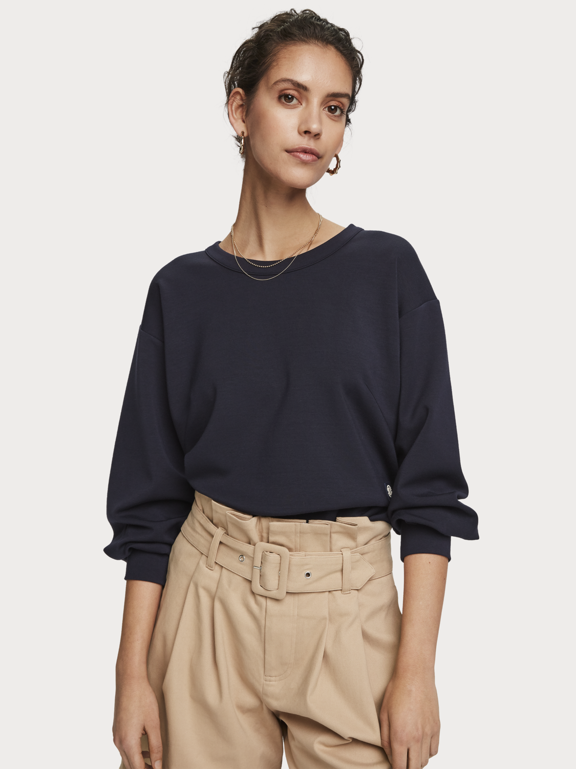 Women Basic crew neck sweater