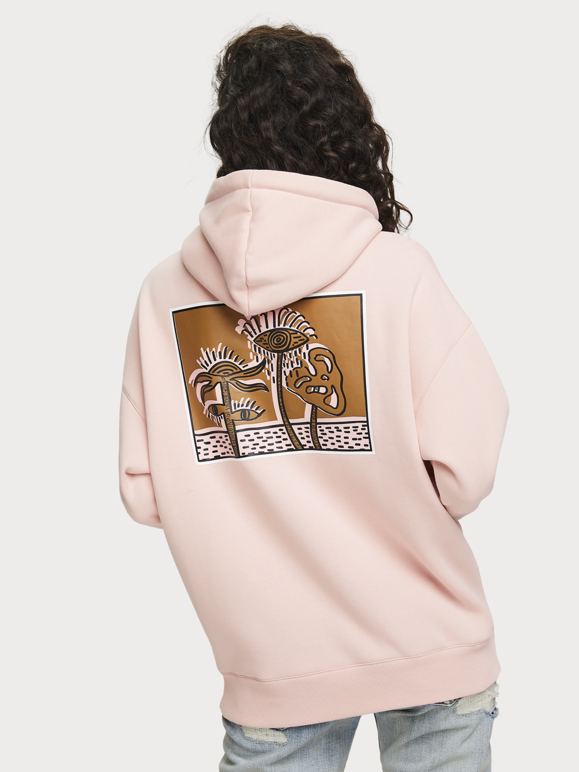 Women Oversized Artwork Hoodie