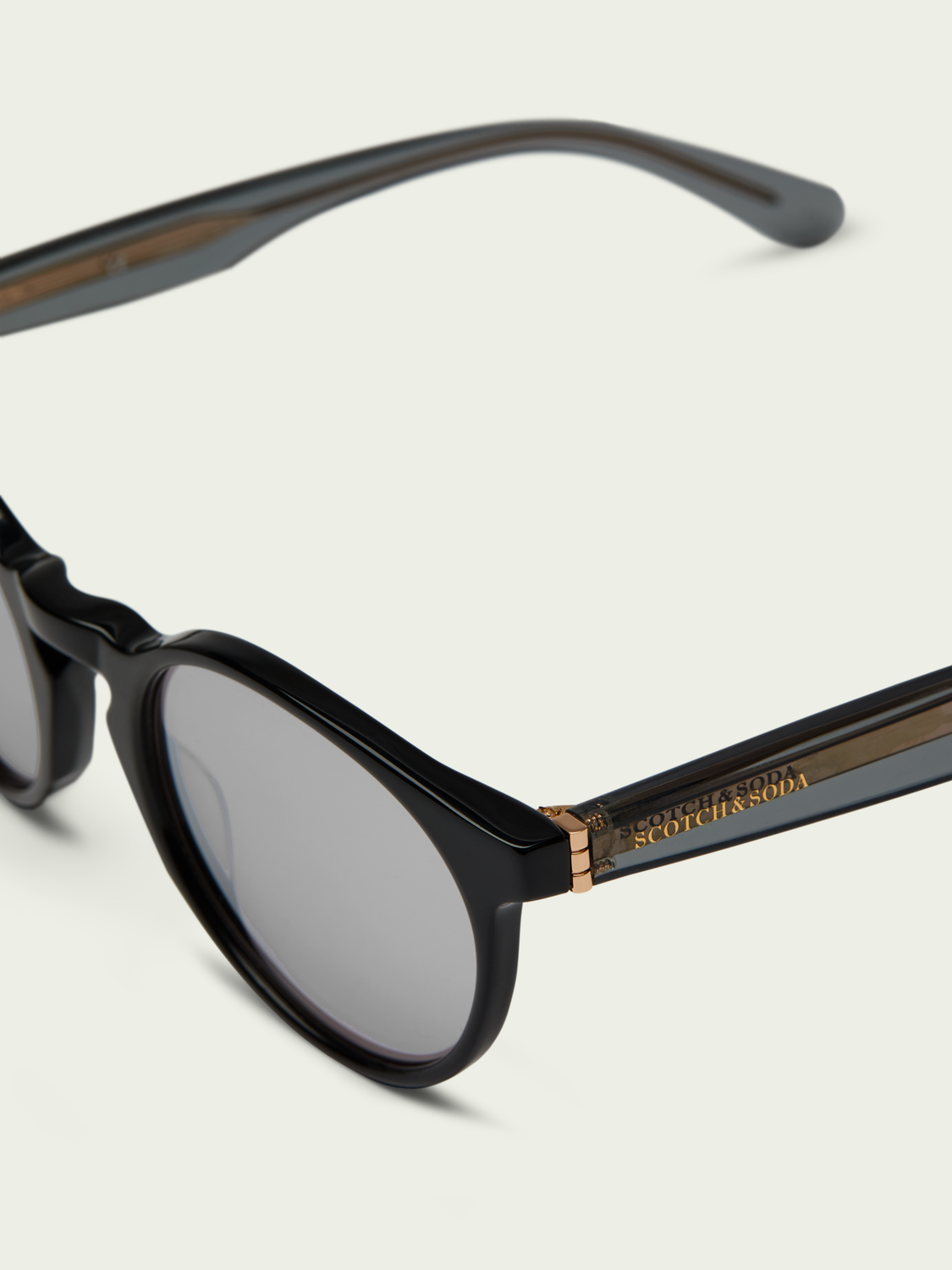 Men Kinney - round-frame acetate sunglasses