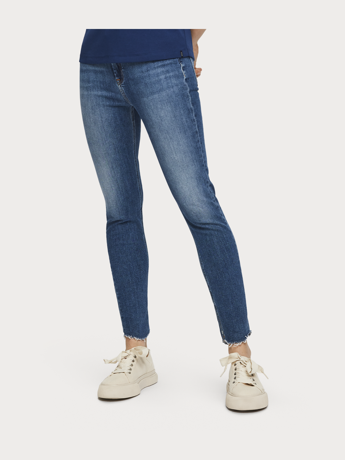 Women Haut Cropped - Blue Treasure | High rise skinny fit