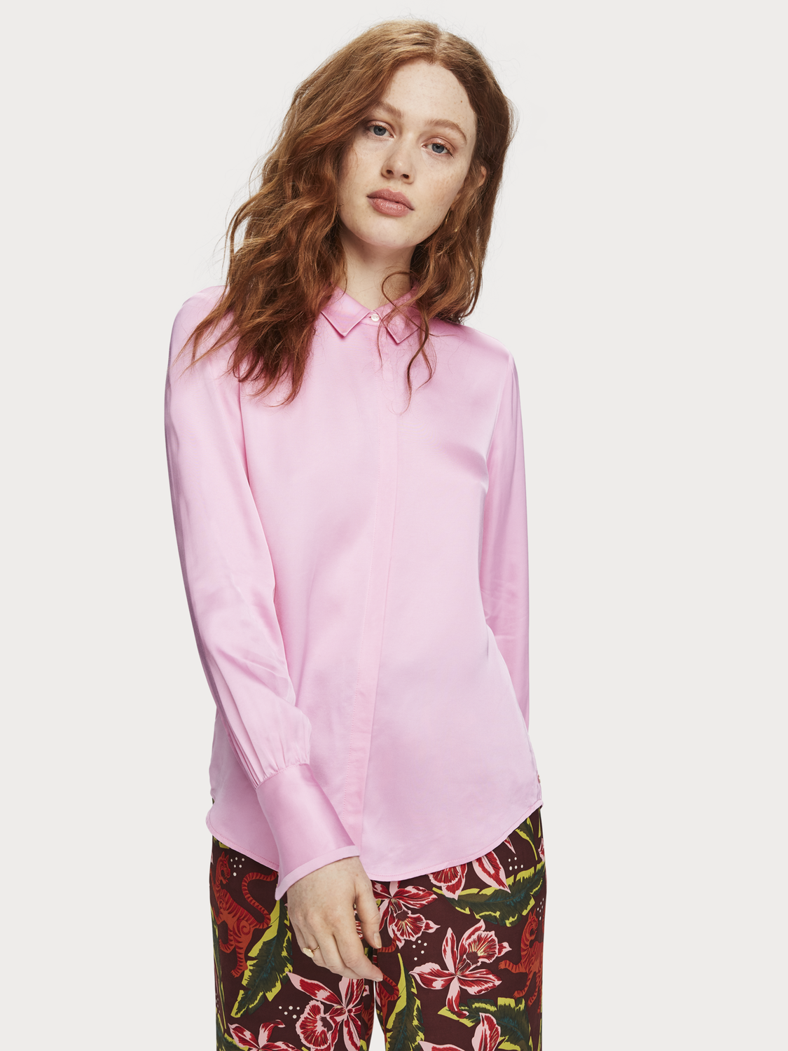 Women Viscose satin shirt