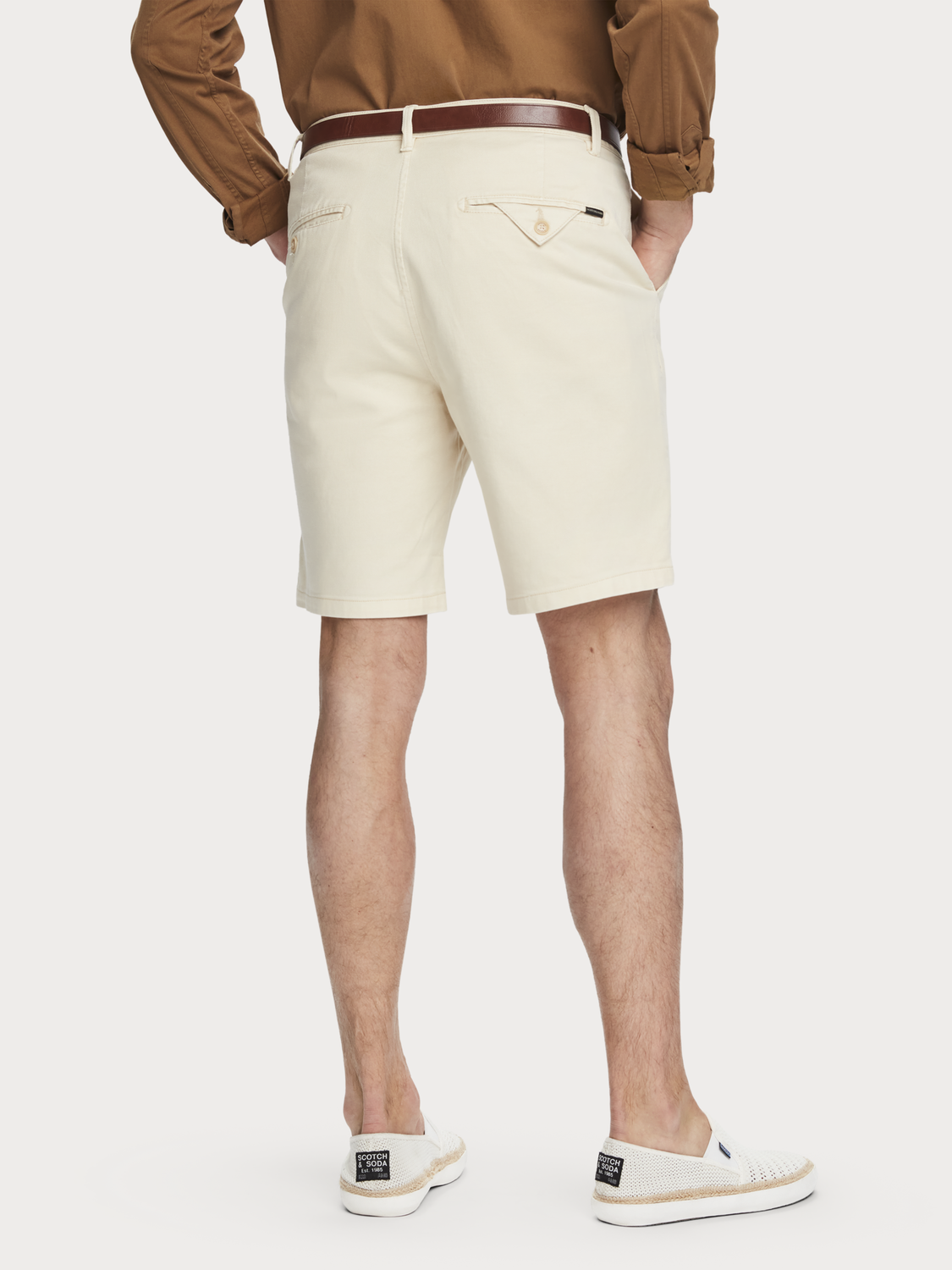 Homme Short chino en coton stretch