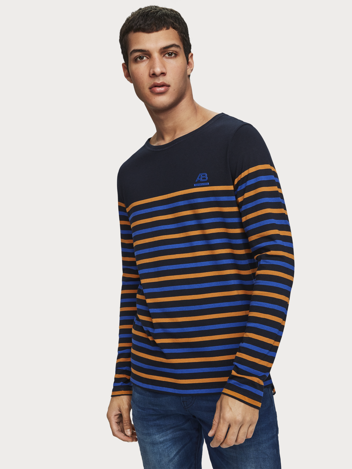 Men Breton Stripe T-Shirt
