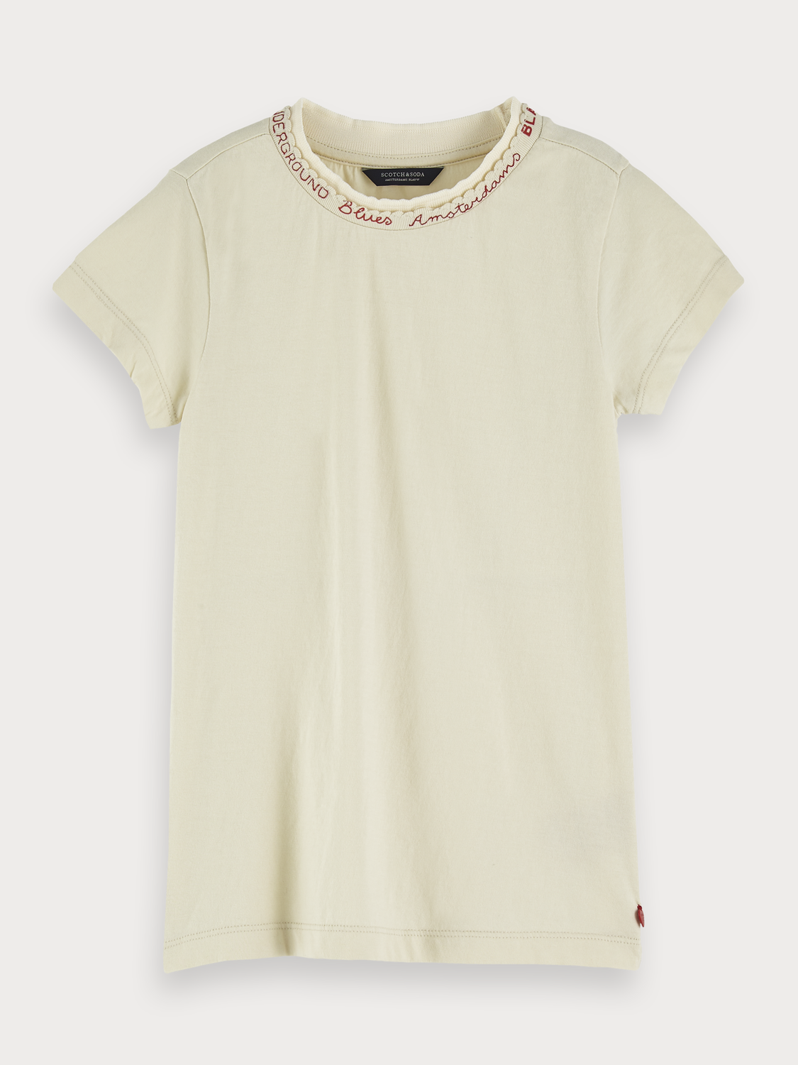 Girls Embroidered Detail T-Shirt