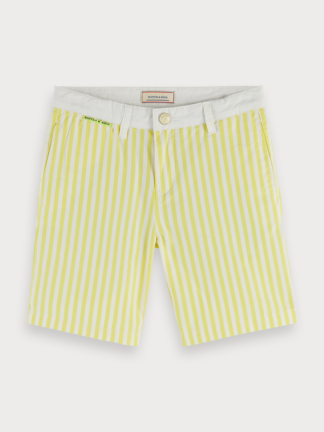 Boys Striped Cotton Chino Shorts