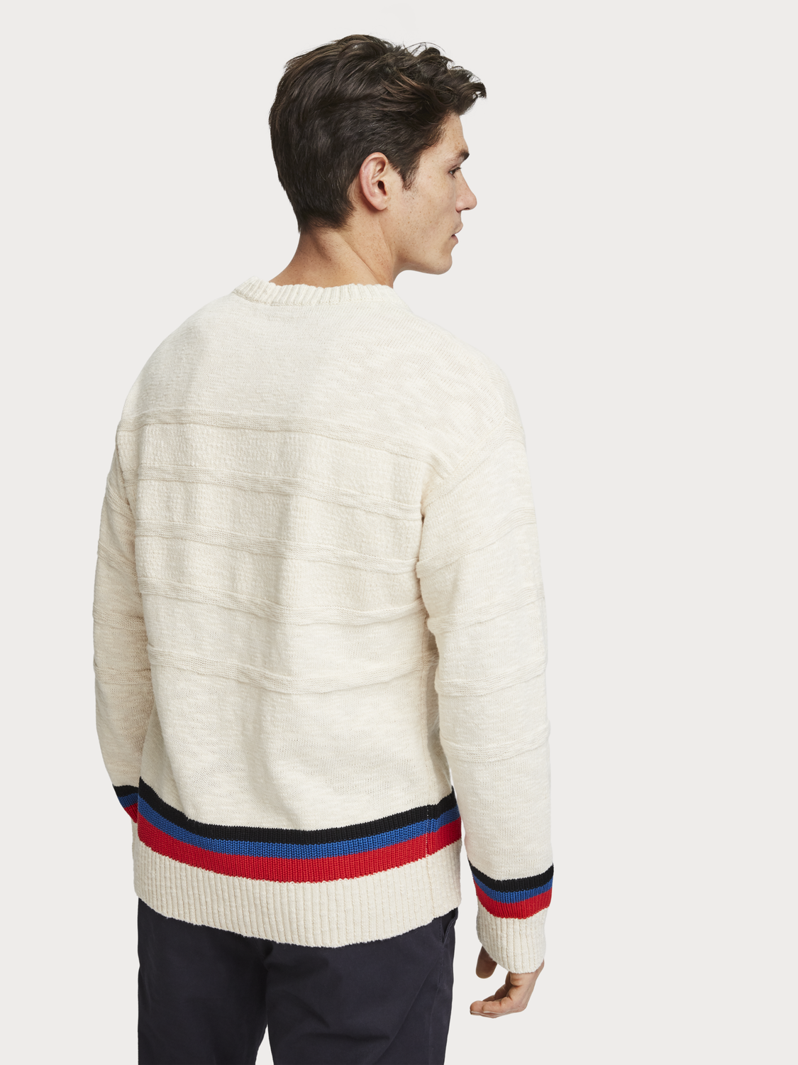 Men Structured knit pullover