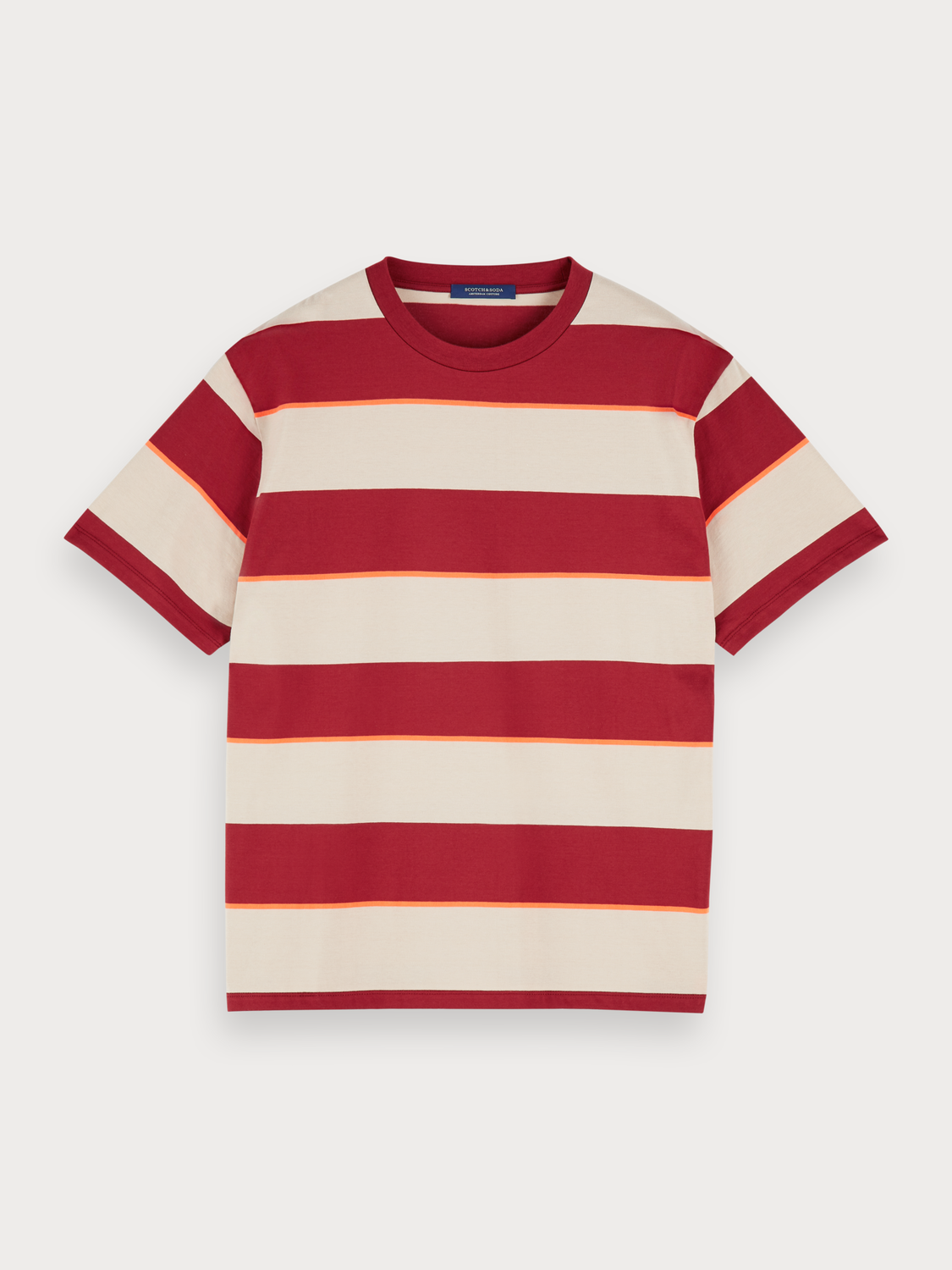 Uomo T-shirt in jersey a righe