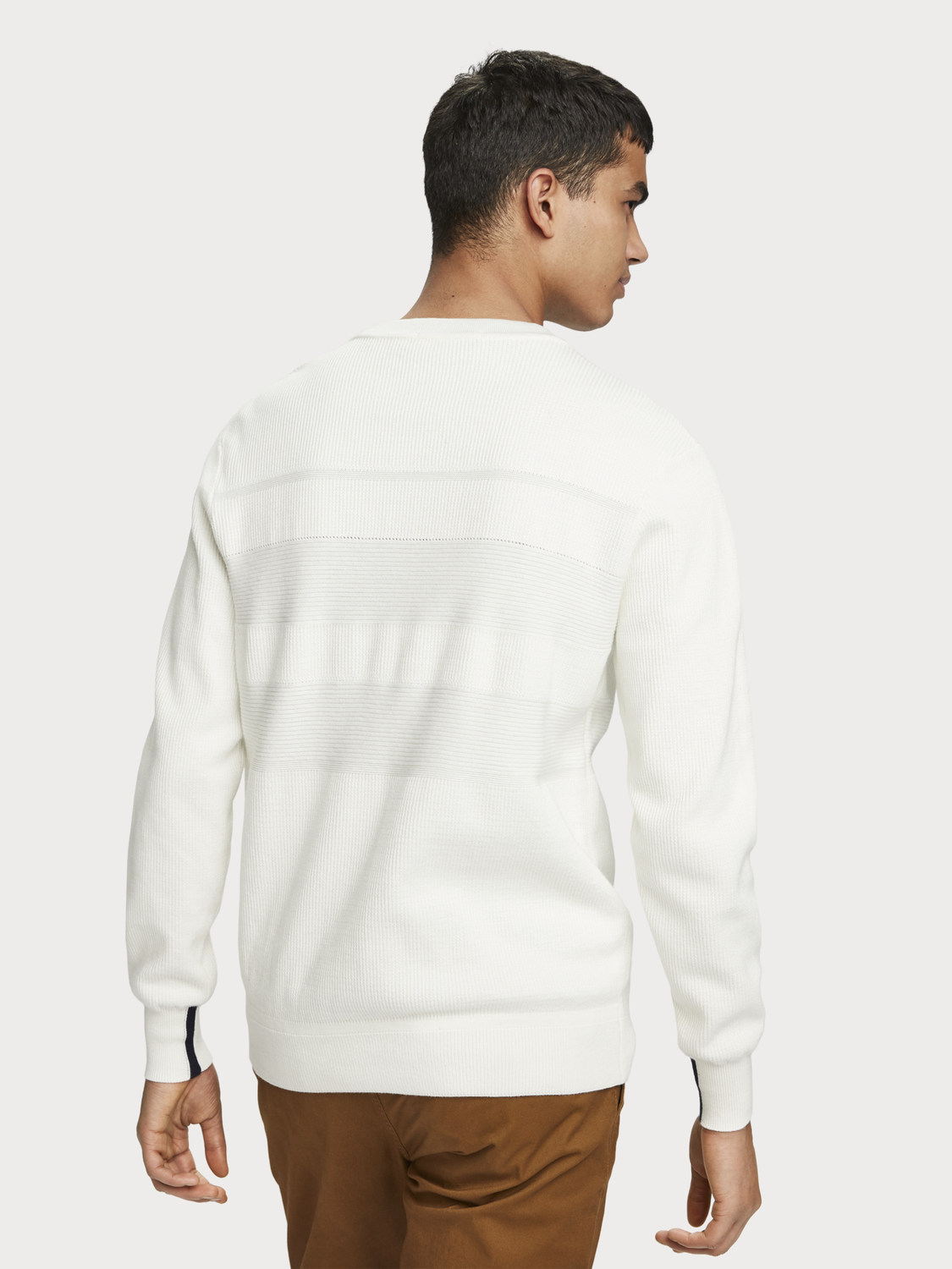 Men Structured Stripe Pullover