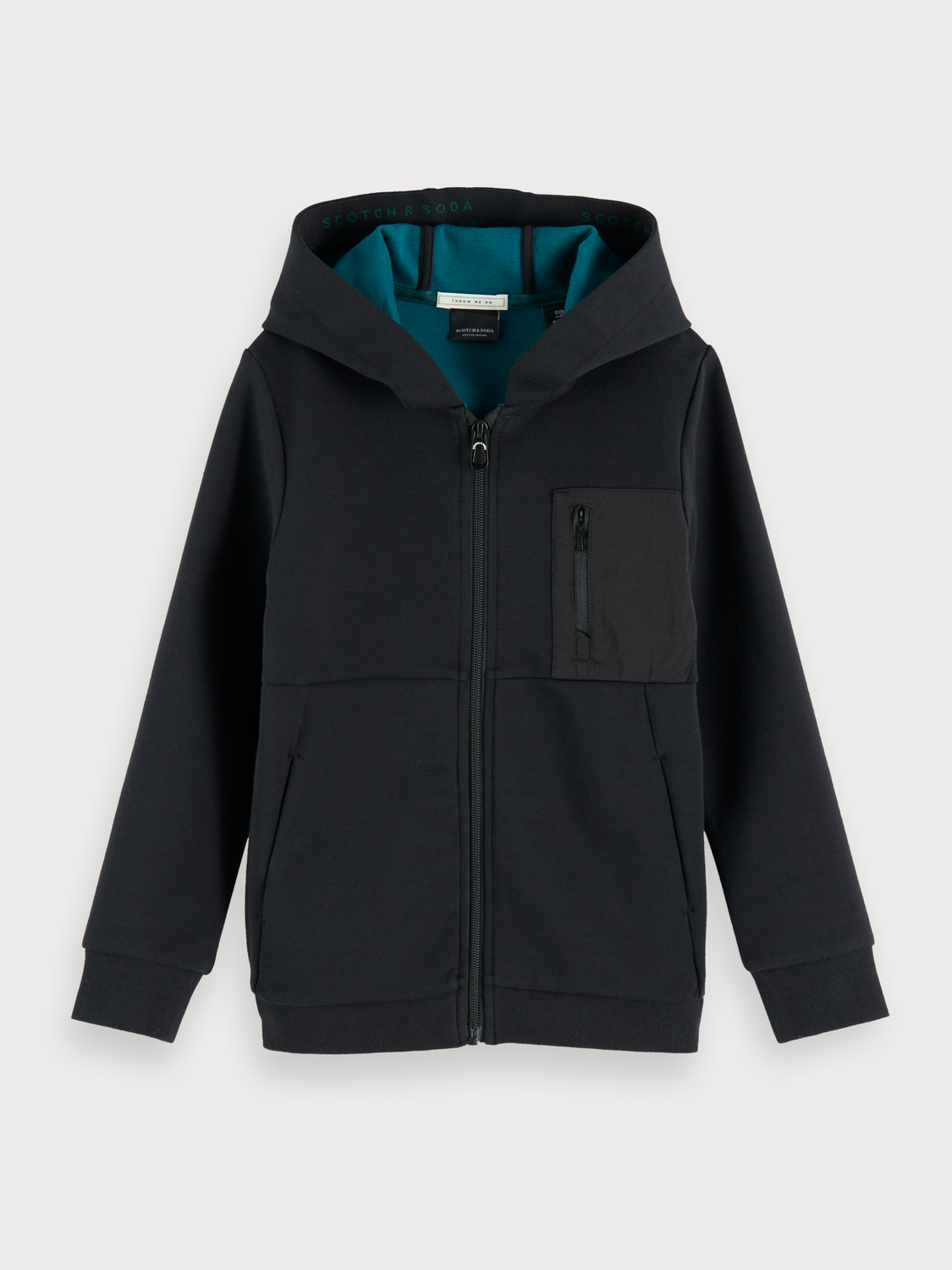 Boys Sporty Zip-up Hoodie