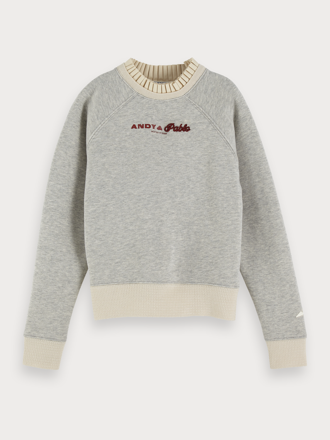 Girls Grey Melange Sweater