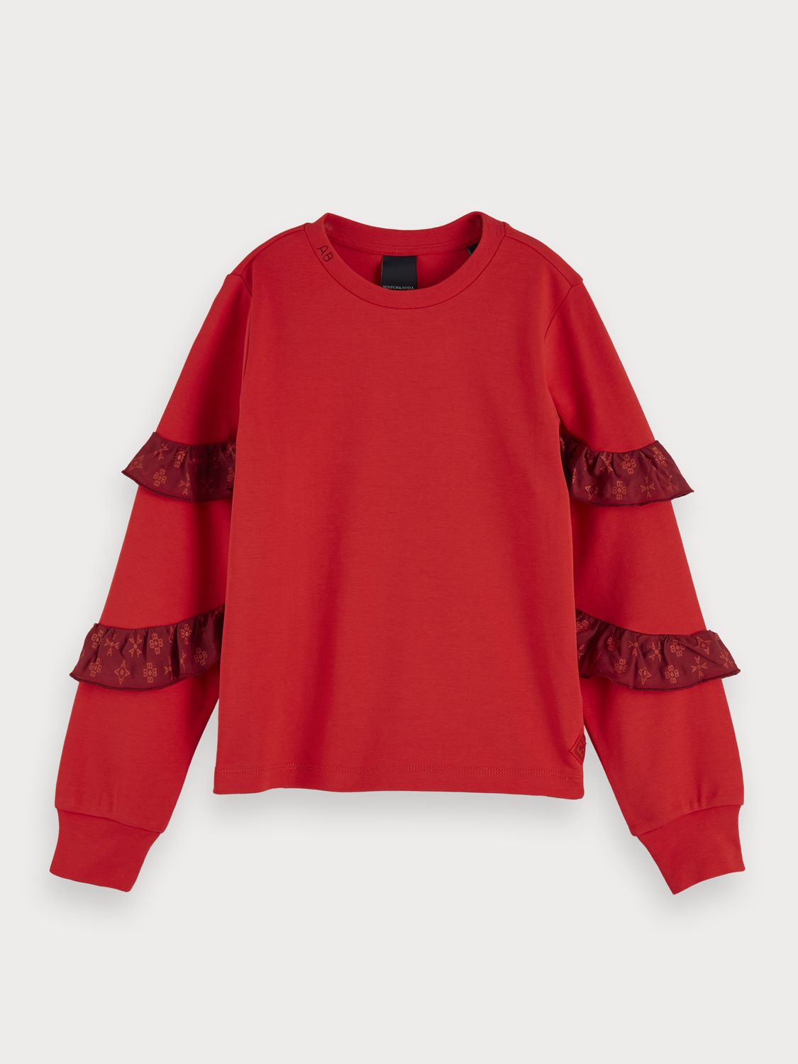Girls Ruffle Detail T-Shirt