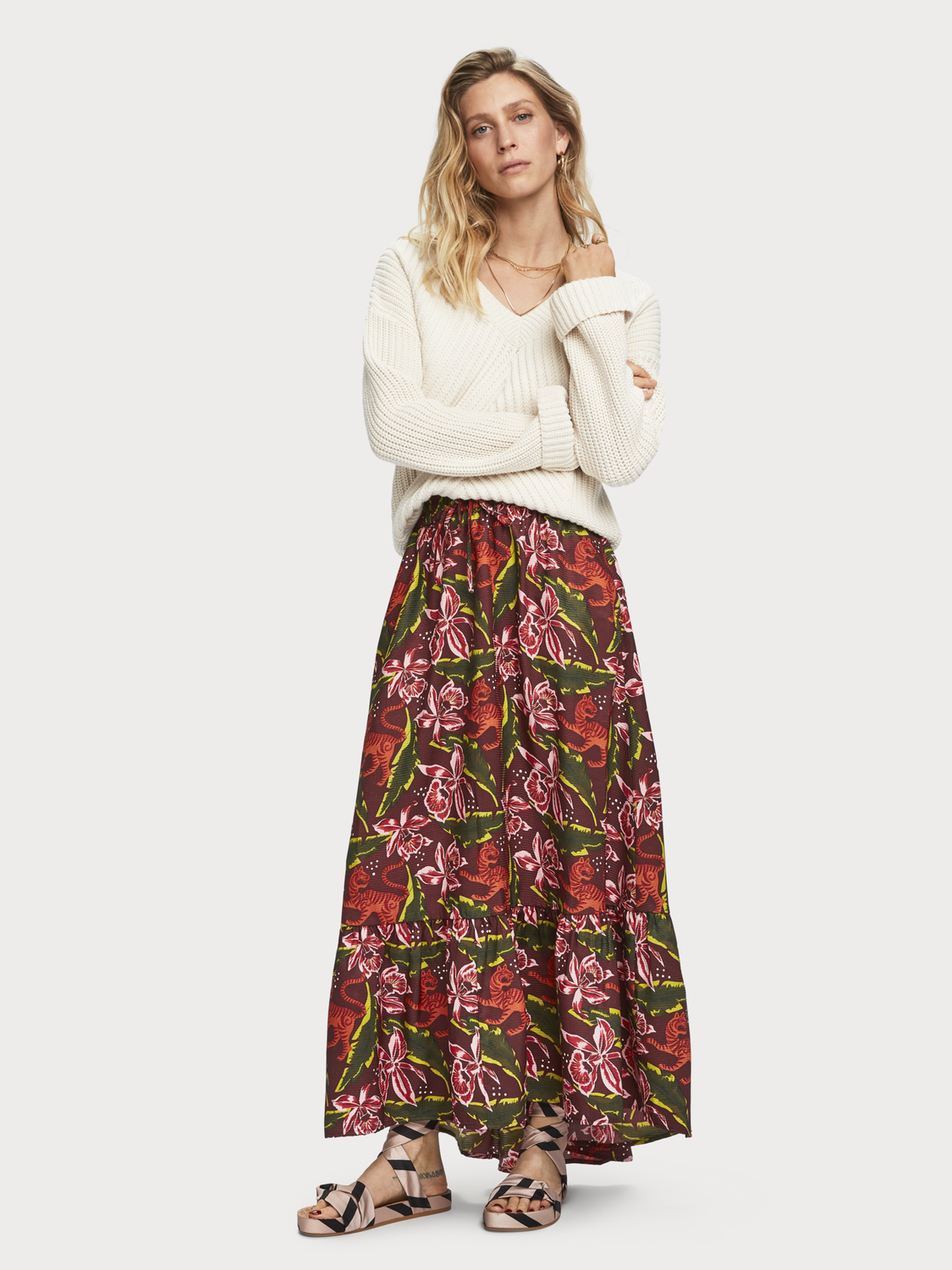 Women Printed Maxi Skirt