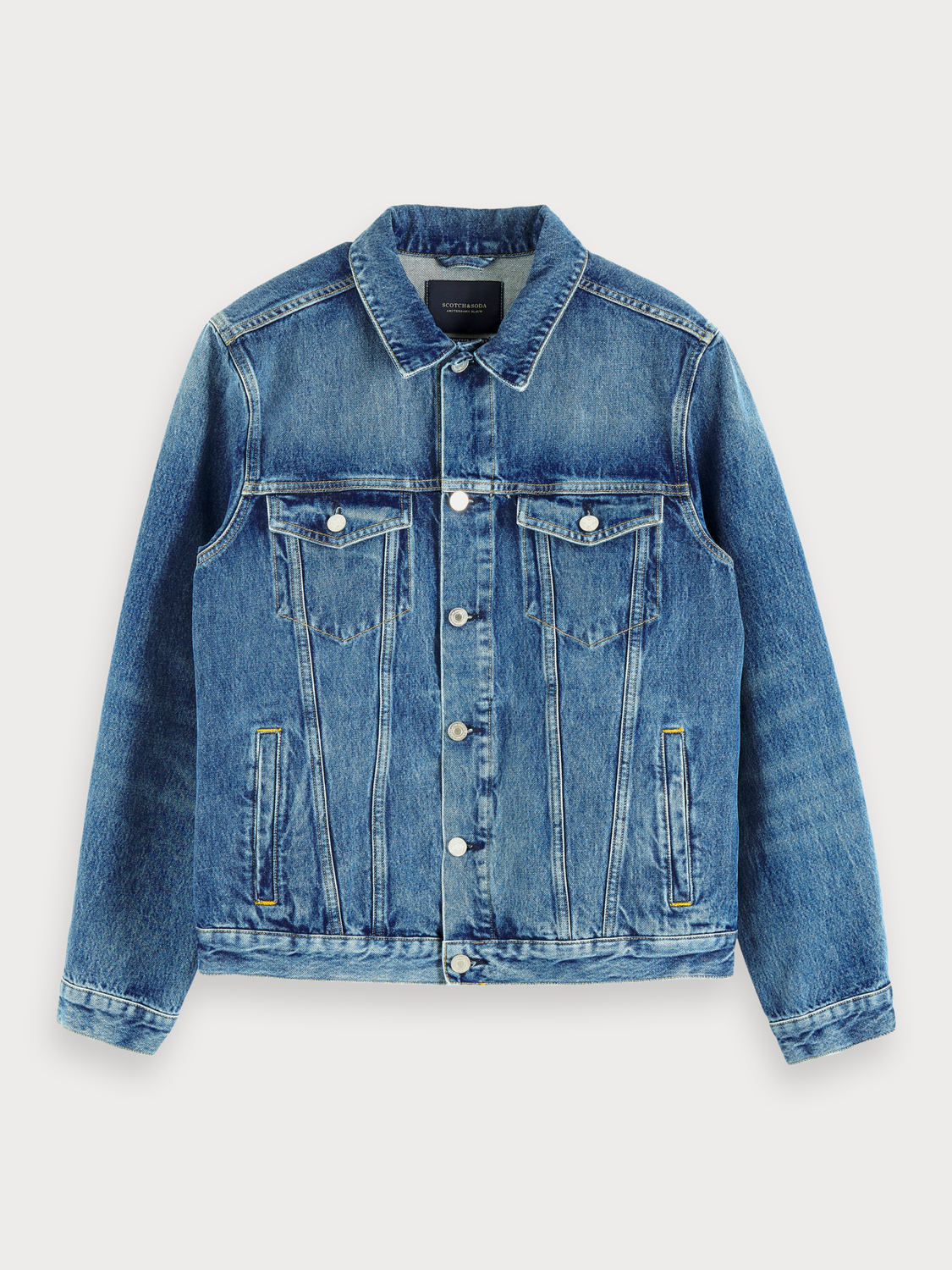 Men Denim Trucker Jacket - Blauw Cure