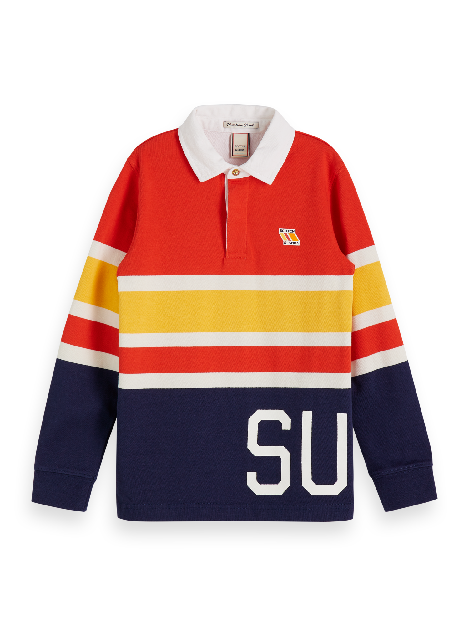 Long sleeved striped polo | T-Shirts