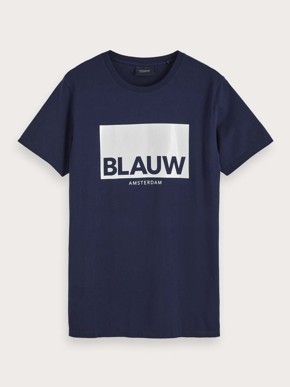 Men Blauw Artwork T-Shirt