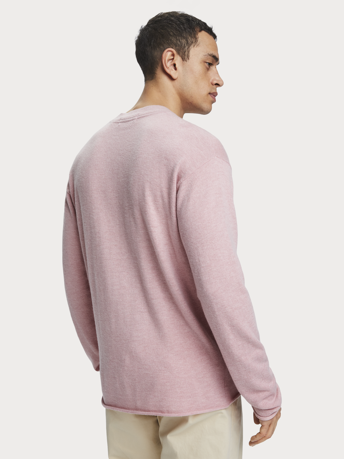 Men Basic wool blend pullover