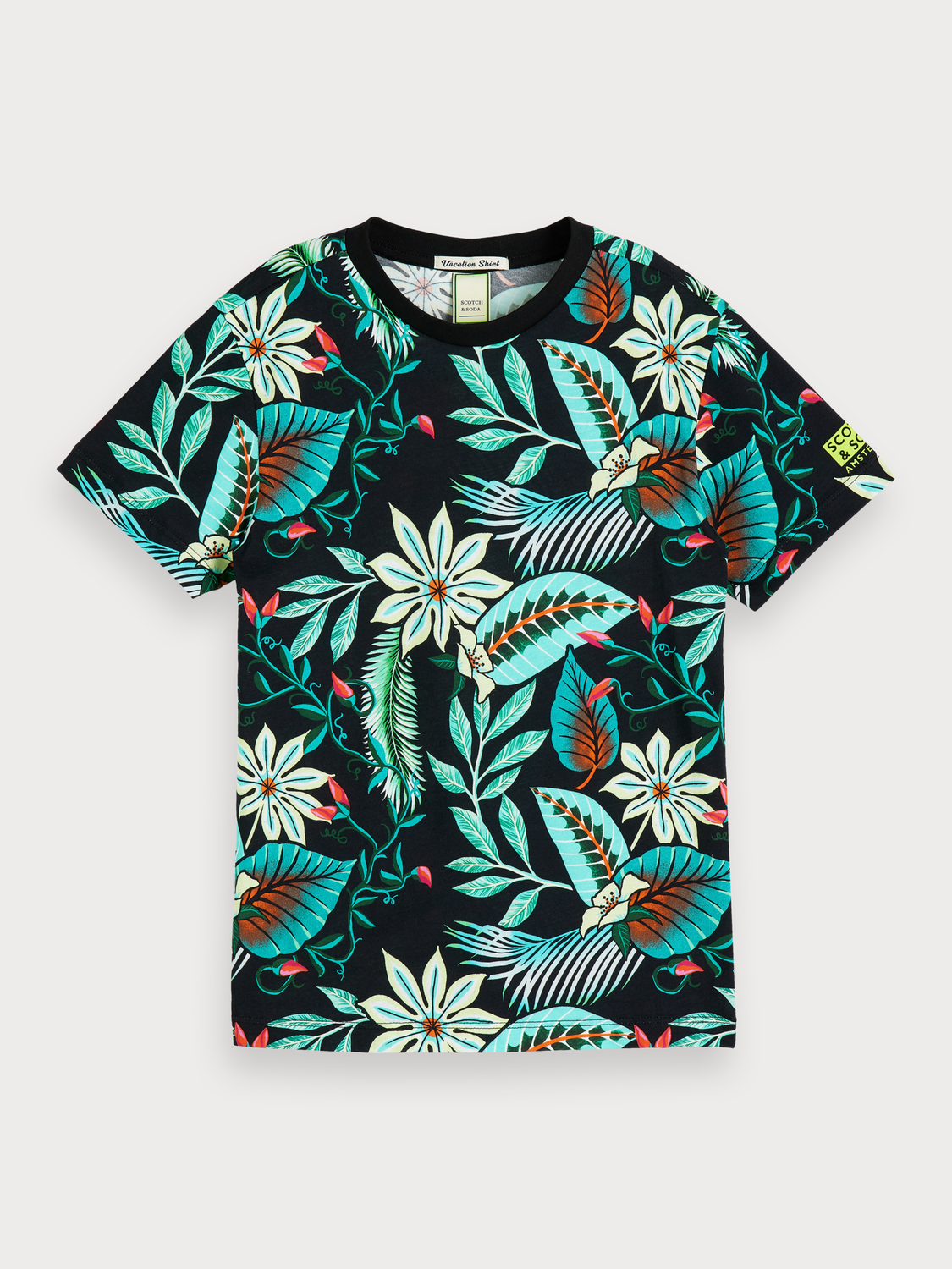 Bambino T-shirt con stampa tropicale