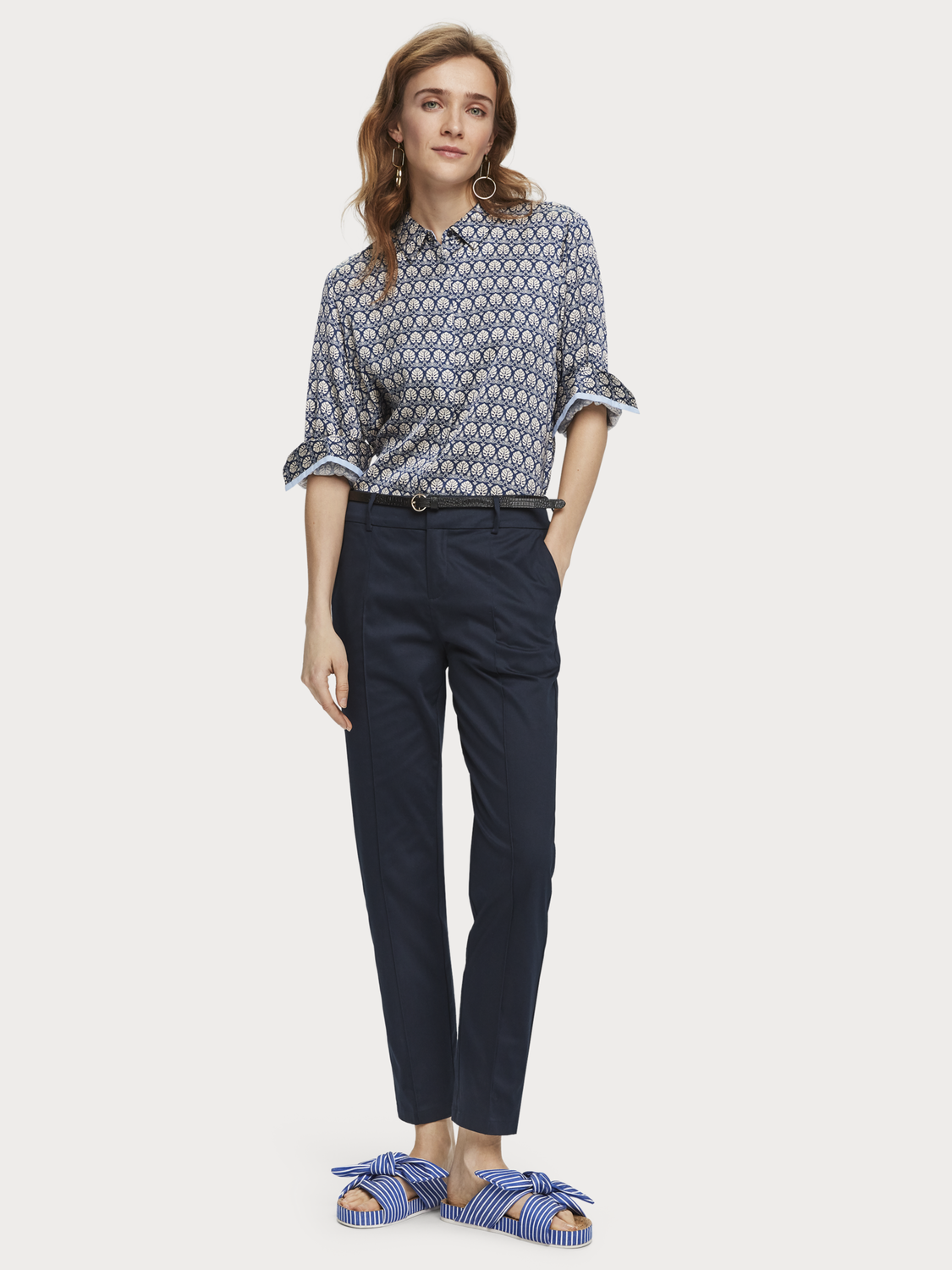Damen Merzerisierte Chino | Regular Fit