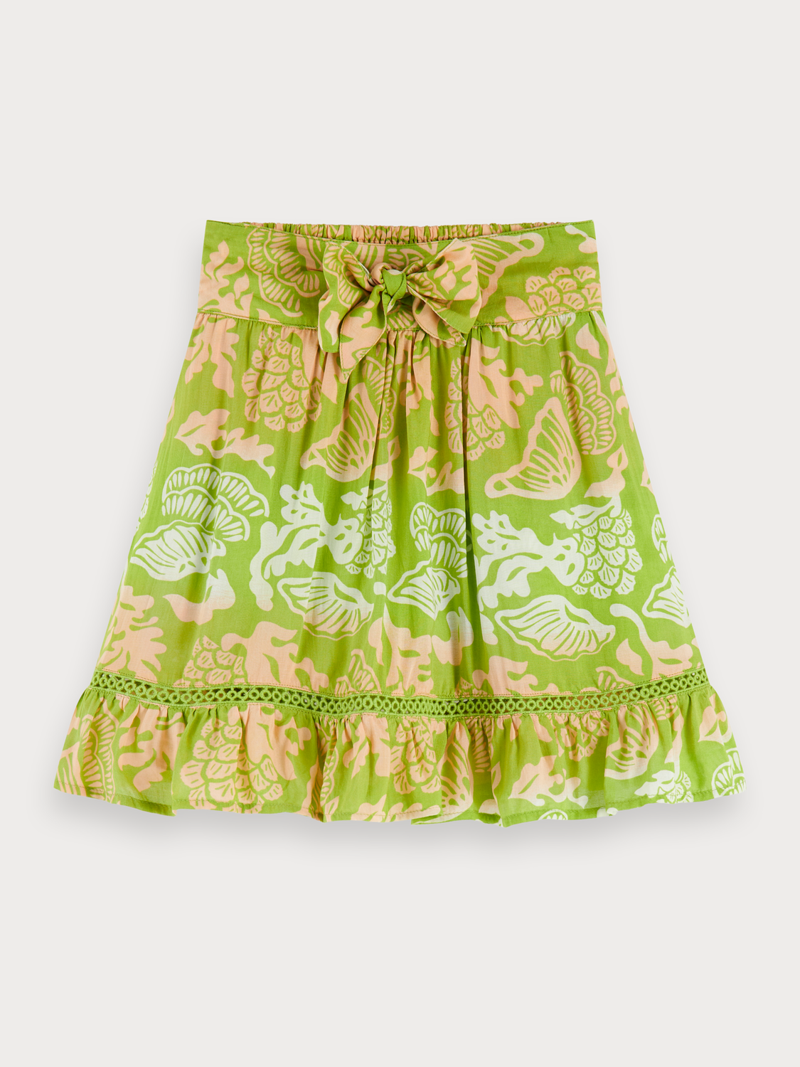 Girls Printed Modal Skirt
