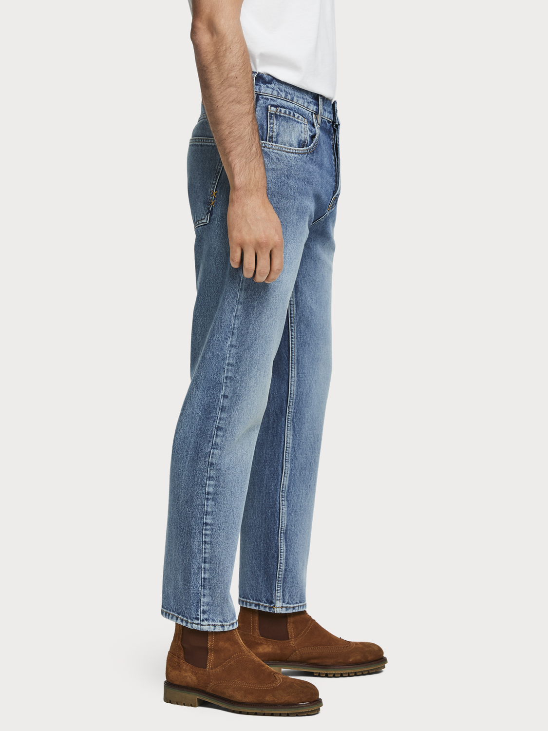 Men The Norm - Blauw Cure   High rise straight fit