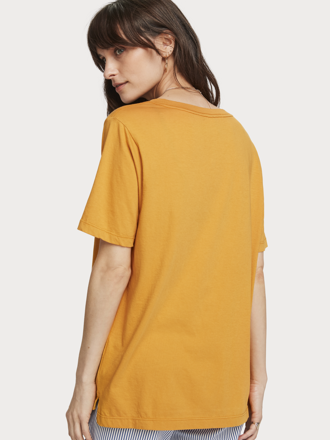 Donna T-shirt relaxed fit con scritta decorativa