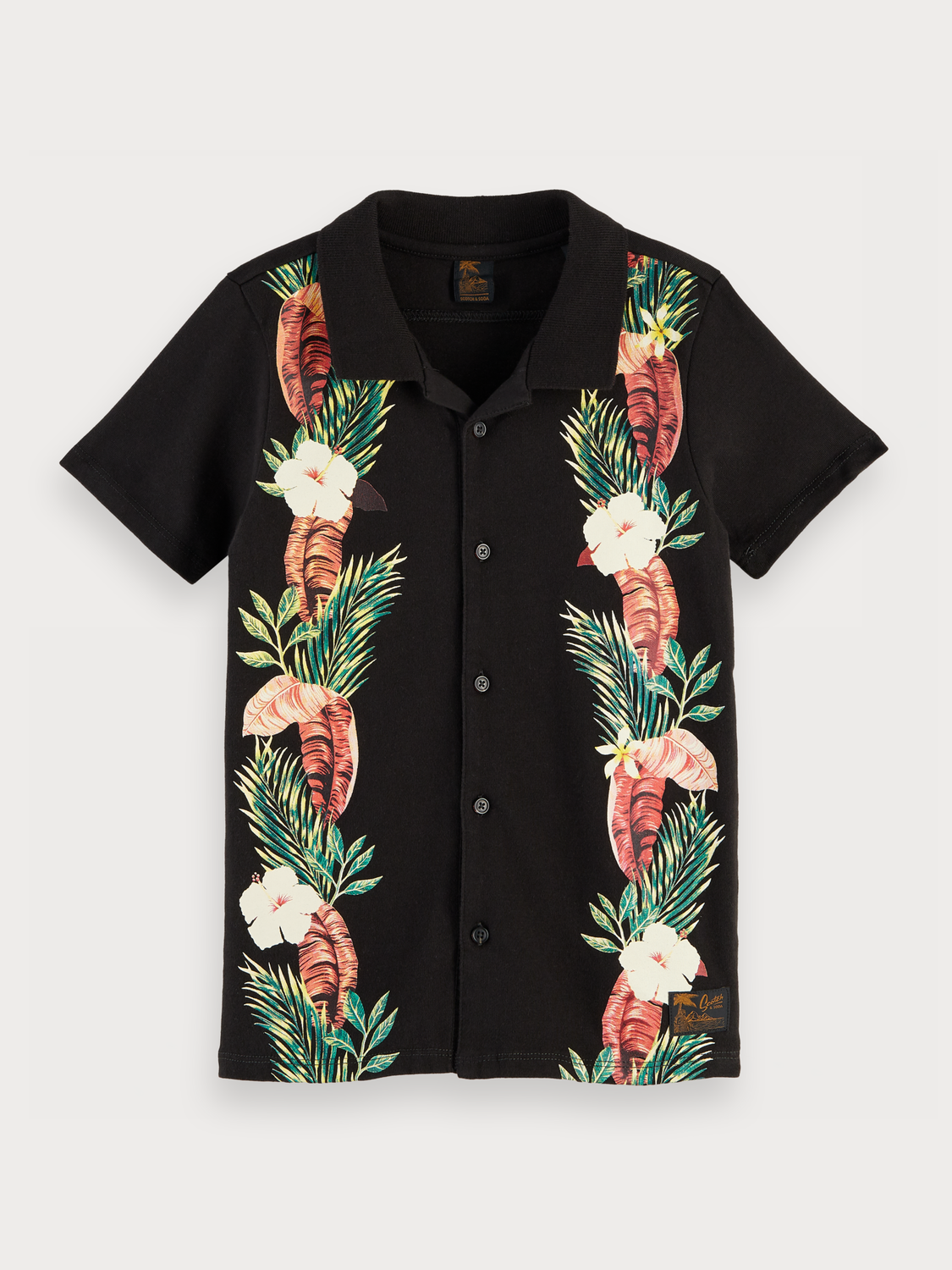 Boys Tropical button up polo