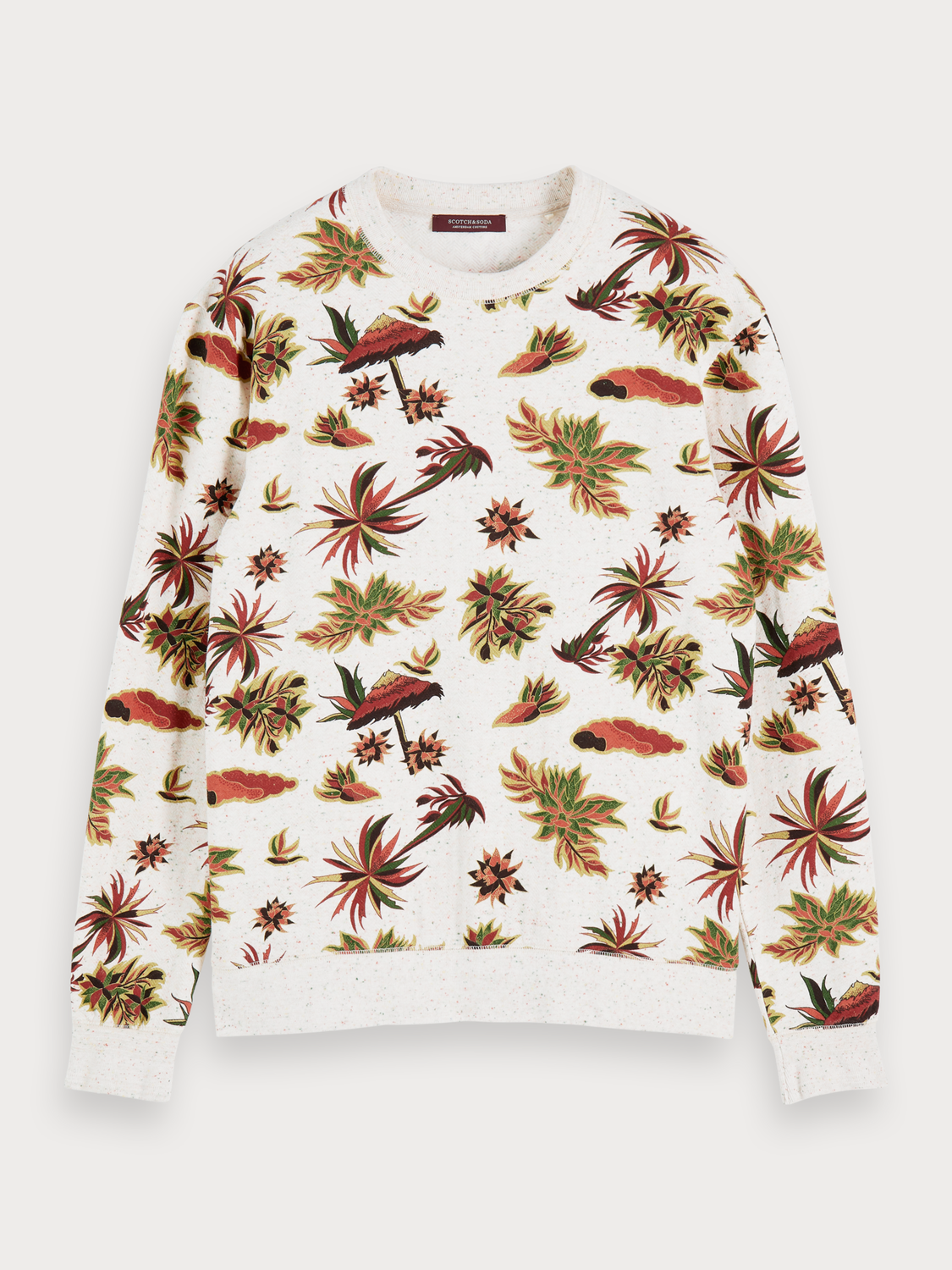 Men Nepped printed sweater